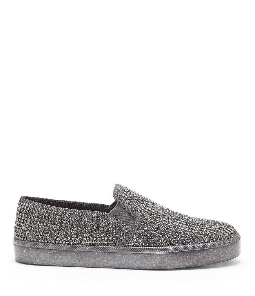 Dinellia 3 Satin Rhinestone Embellished Slip-On Sneakers j910tM