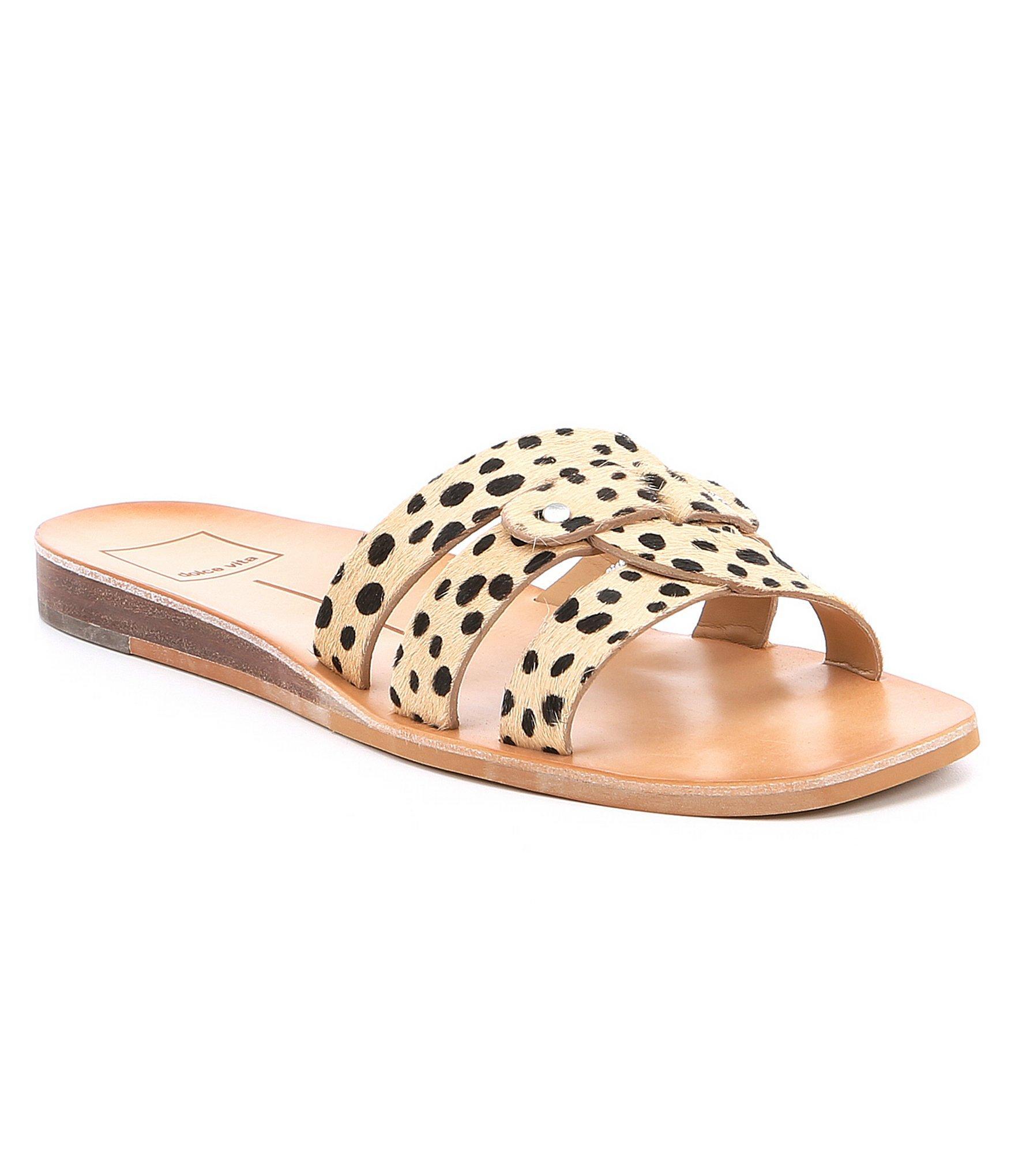 46fedb41fcb Lyst - Dolce Vita Cait Leopard Print Wedge Sandals