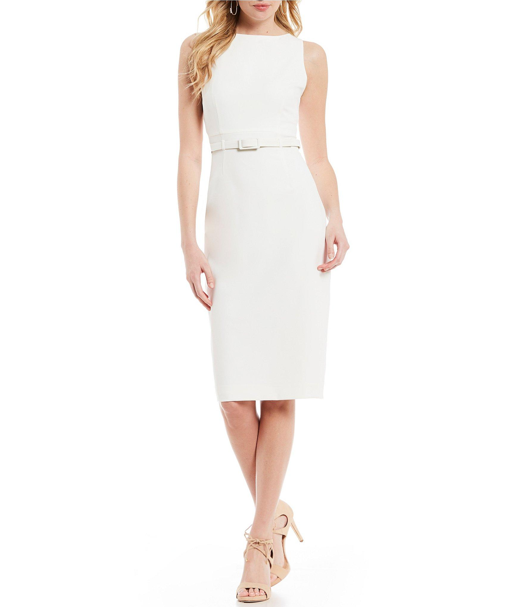 6809419b0a6 Lyst - Antonio Melani Keke Sleeveless Belted Waist Dress in White