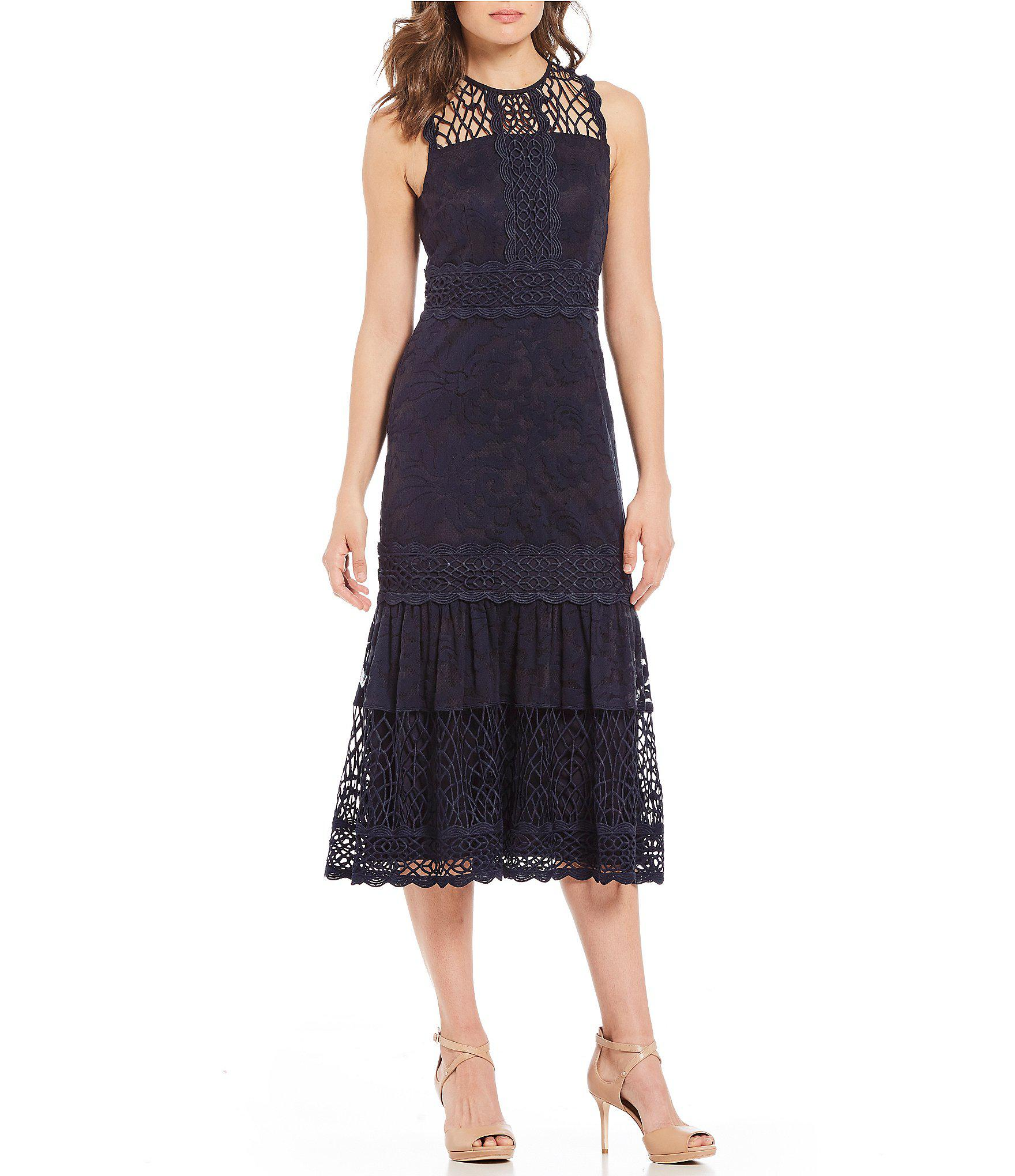82f4bf6ed6c Antonio Melani Betty Lace Midi Dress in Blue - Lyst