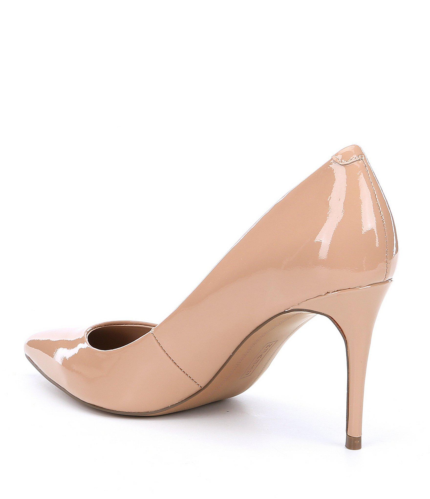 eab5ca9e02a Lyst - Steve Madden Steven By Local Patent Leather Pointed Toe Pumps ...