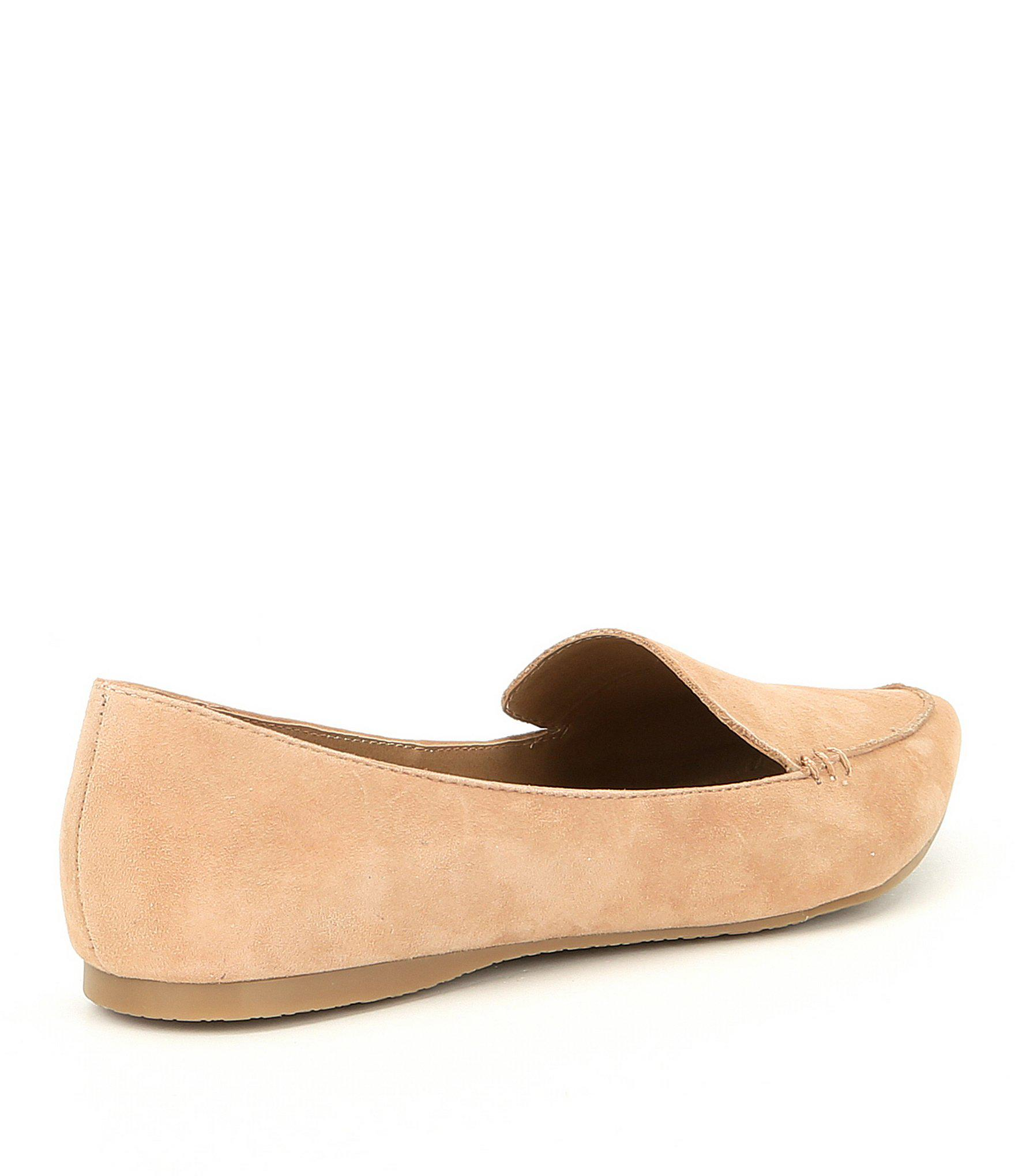 8a87f087270 Steve Madden - Natural Feather Suede Loafers - Lyst. View fullscreen