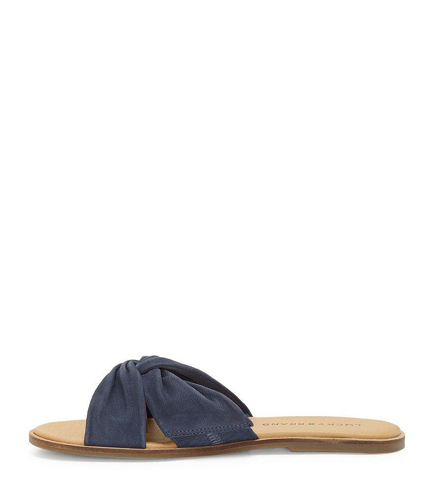 Dezzee Nubuck Twist Band Flat Sandals lzI08nwx