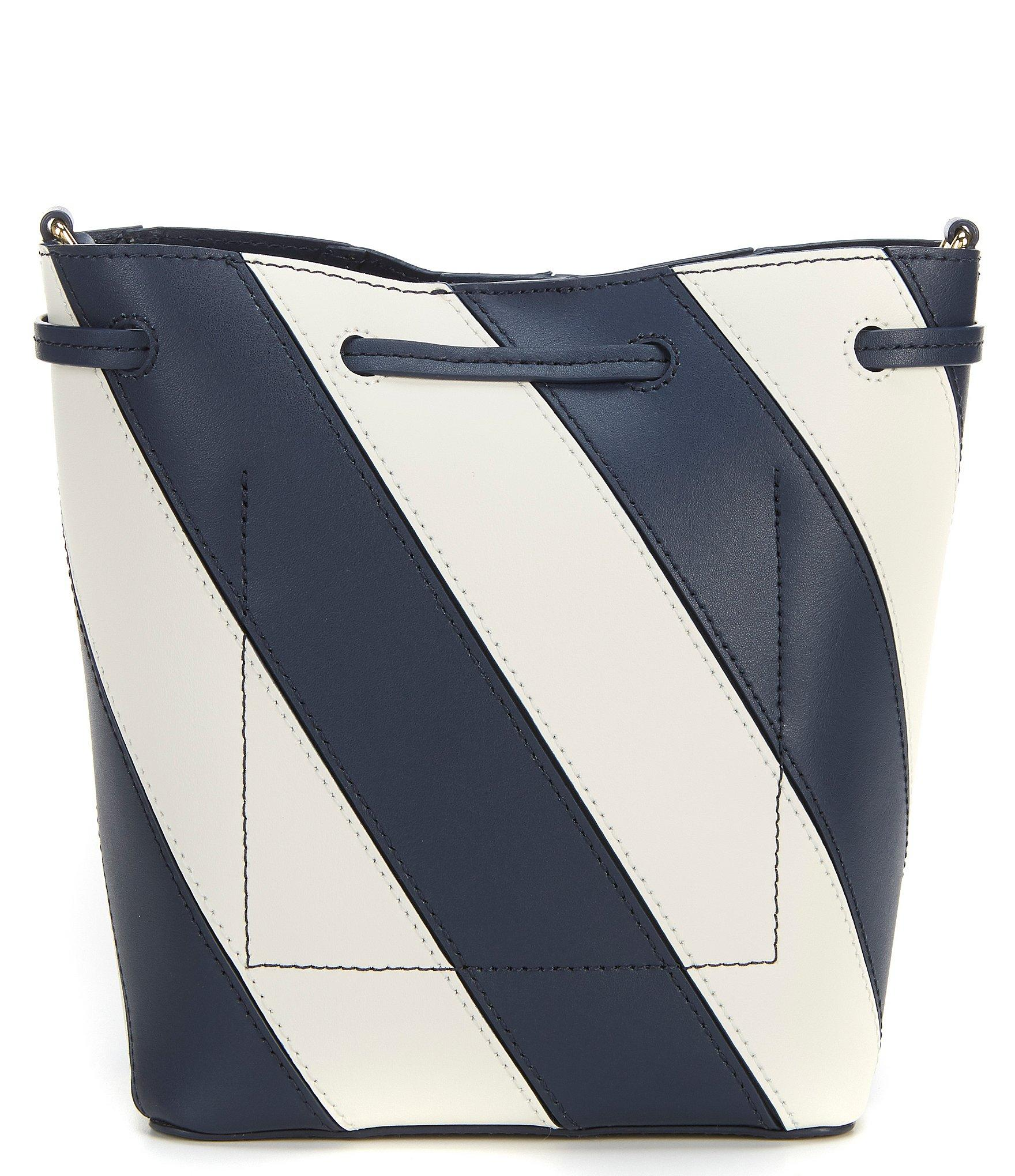 Lauren by Ralph Lauren - Blue Debby Stripe Drawstring Bucket Bag - Lyst.  View fullscreen 9c729449db632