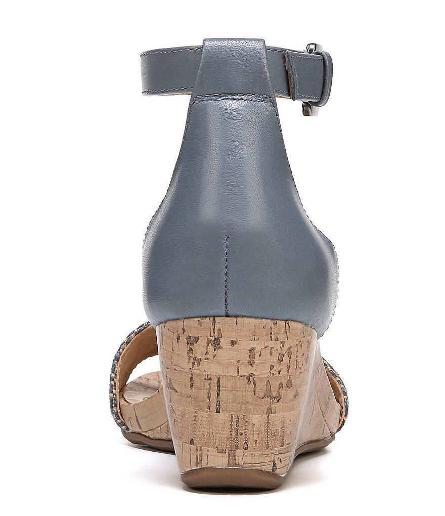 Naturalizer Cami Woven Fabric Cork Ankle Strap Wedges PH380N9mZ