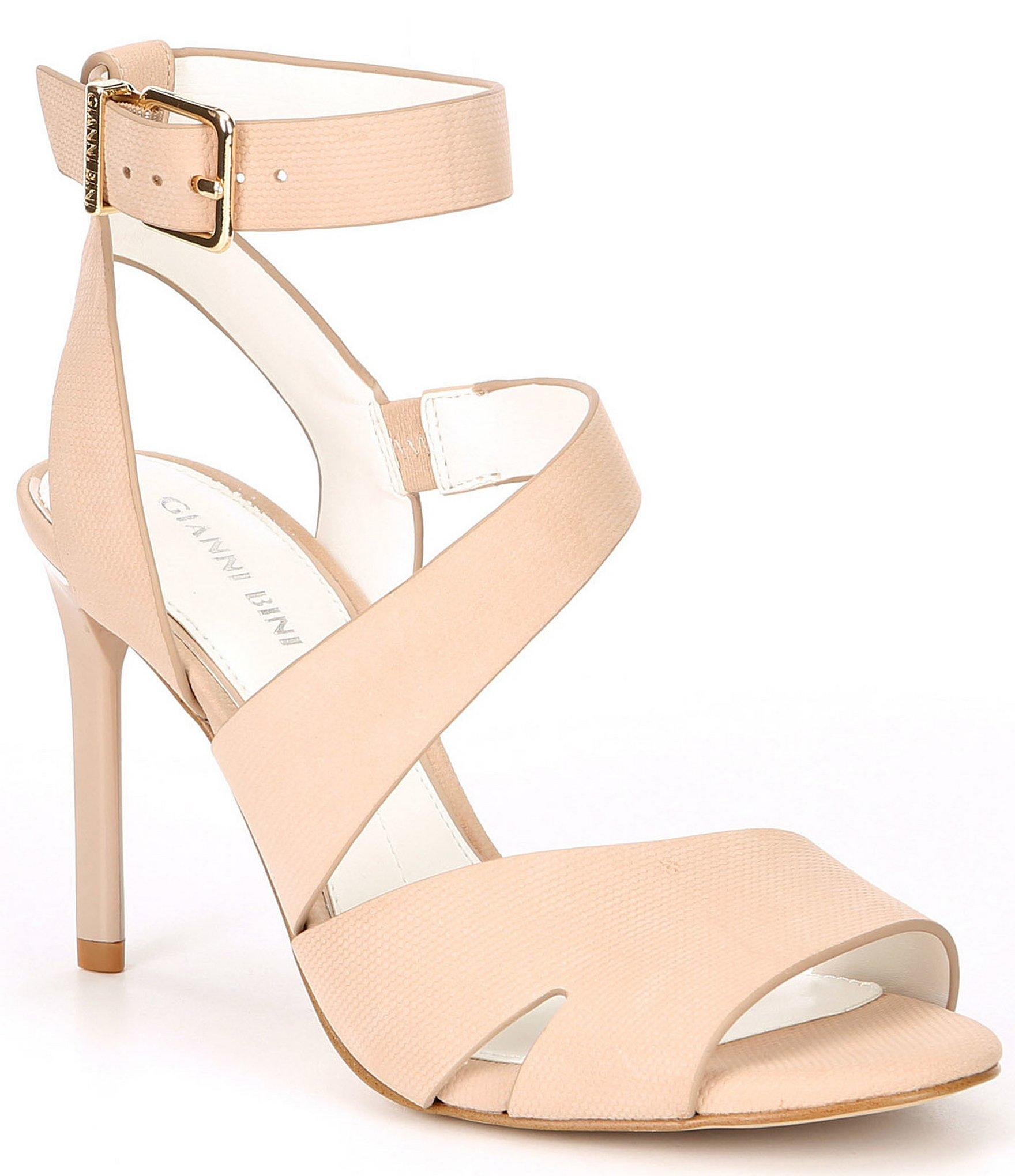 151efb62fb Gianni Bini Adeena Nubuck Asymmetrical Dress Sandals in Natural - Lyst