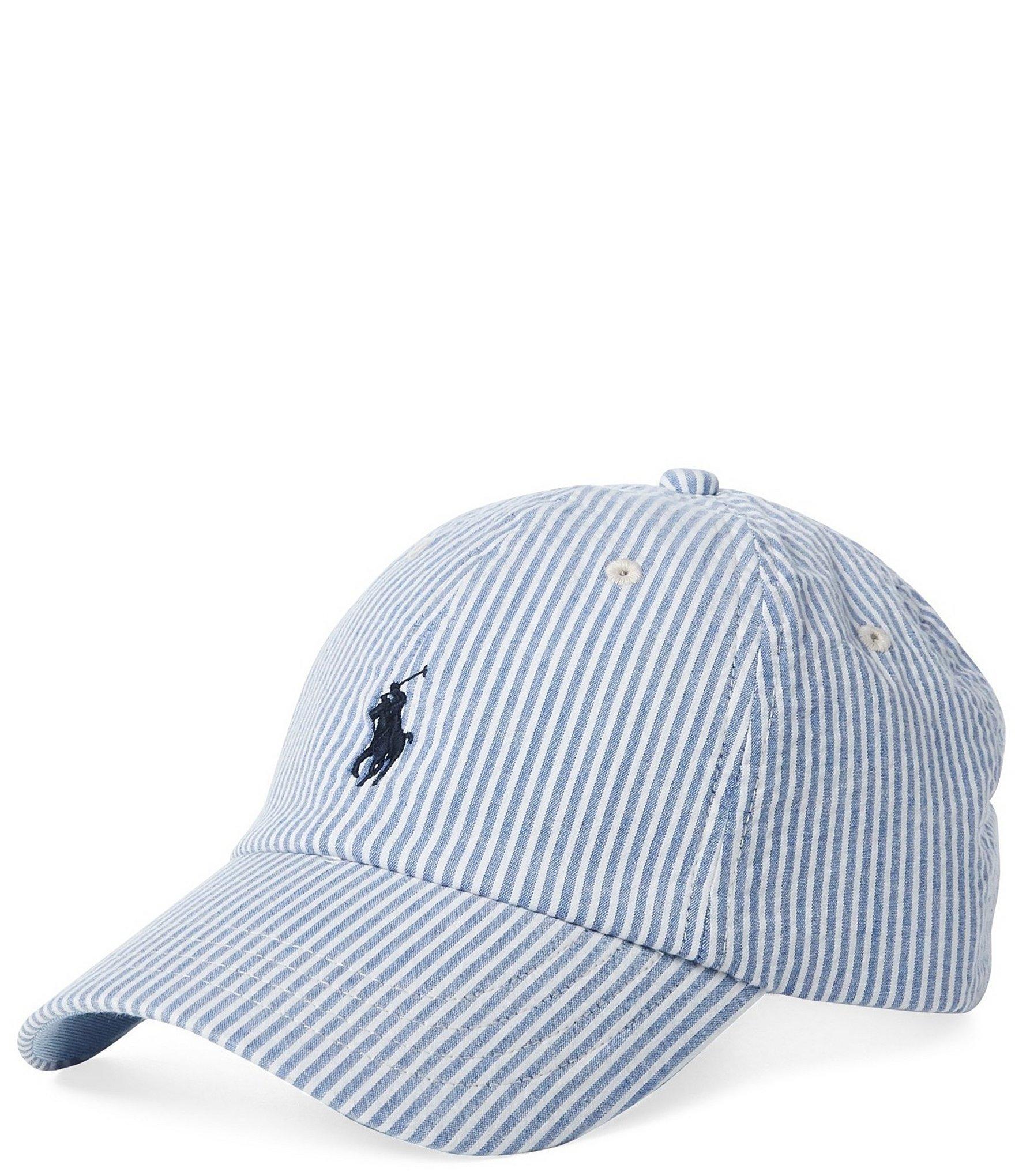 Lyst - Polo Ralph Lauren Seersucker Baseball Cap in Blue for Men 3cf19ee520ea