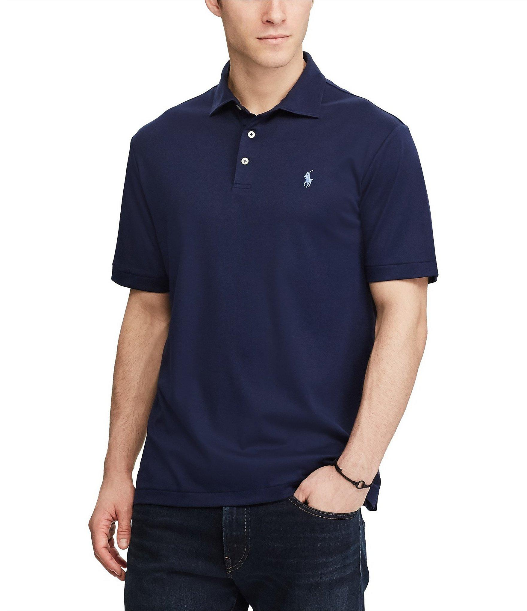8c0abaae Lyst - Polo Ralph Lauren Classic-fit Short-sleeve Polo Shirt in Blue ...