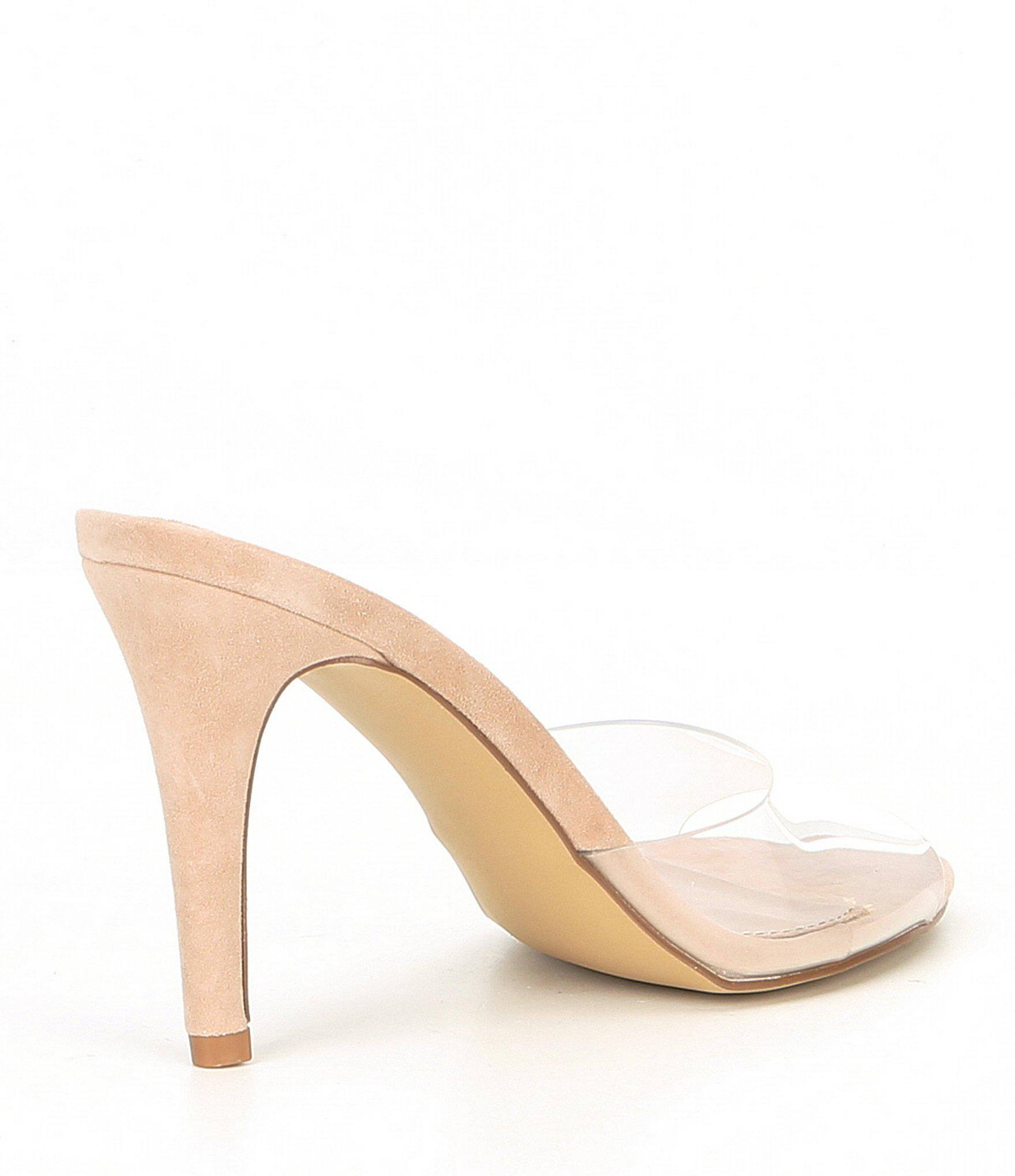 719366bd7bc Steve Madden - Multicolor Erin Clear Stiletto Sandals - Lyst. View  fullscreen