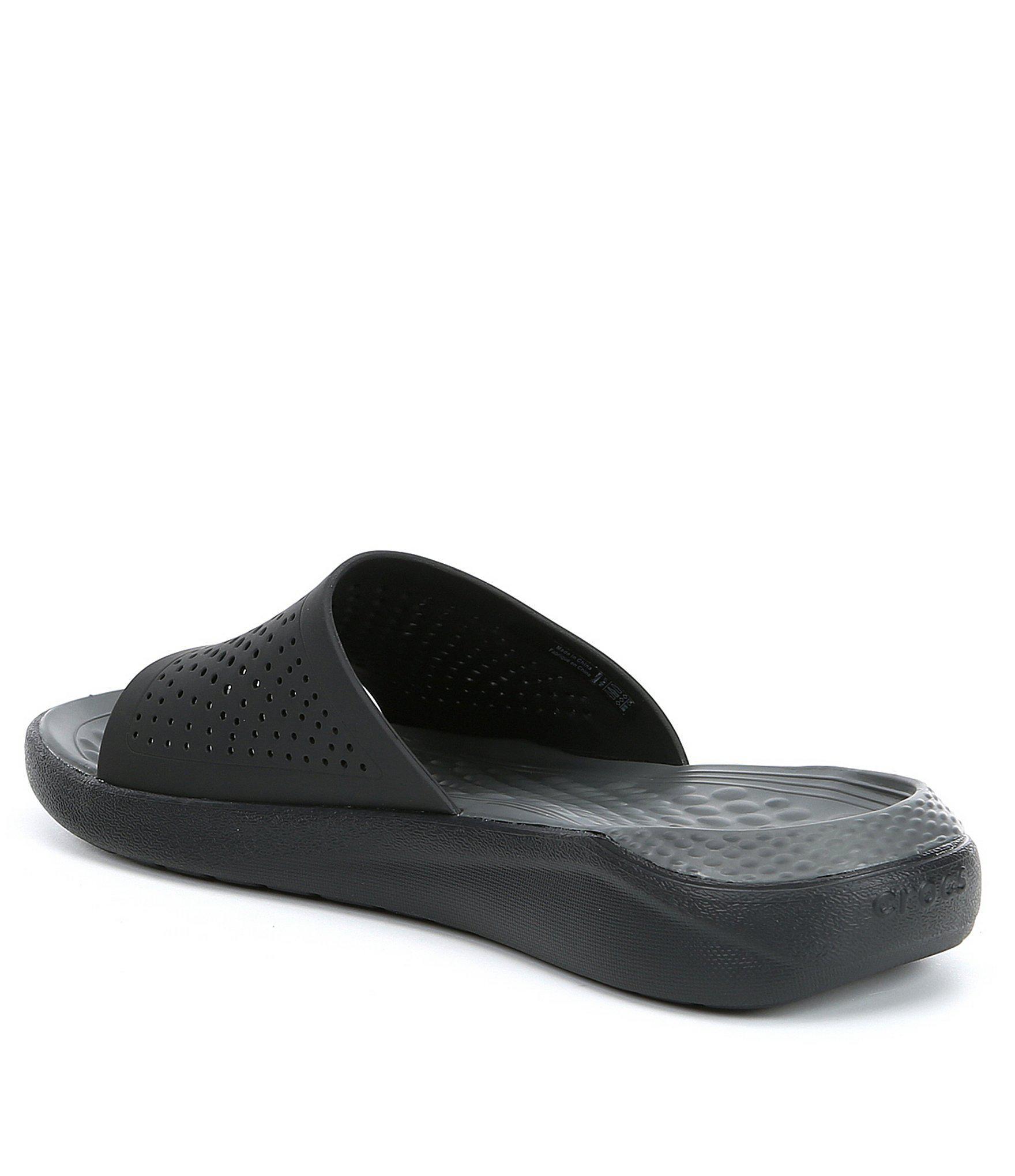 ee10497c5 Lyst - Crocs™ Men s Literide (tm) Slide in Black for Men