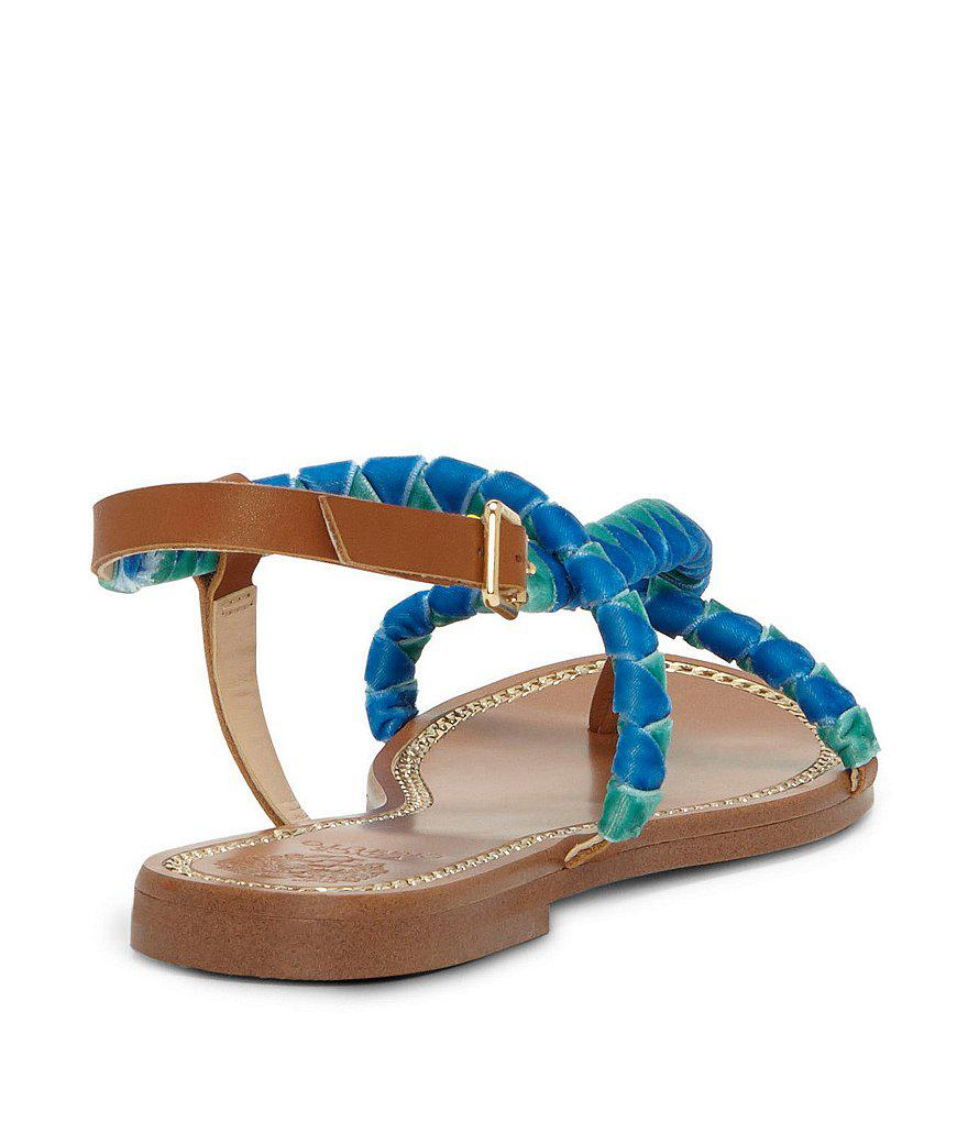 Raminta Velvet and Leather Sandals