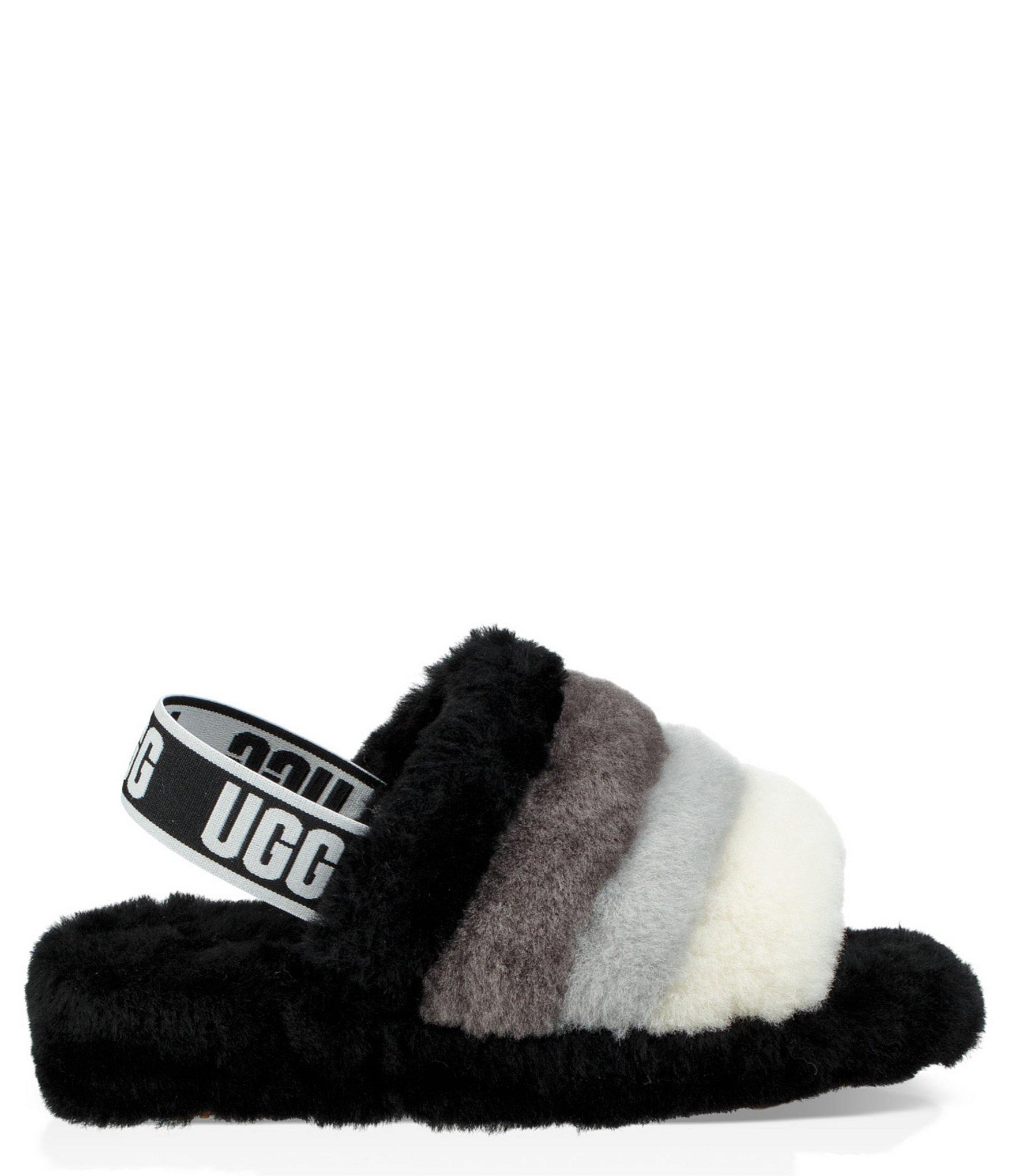 d27c4cc5f UGG Logo Fluff Yeah Multi-color Slides in Black - Lyst