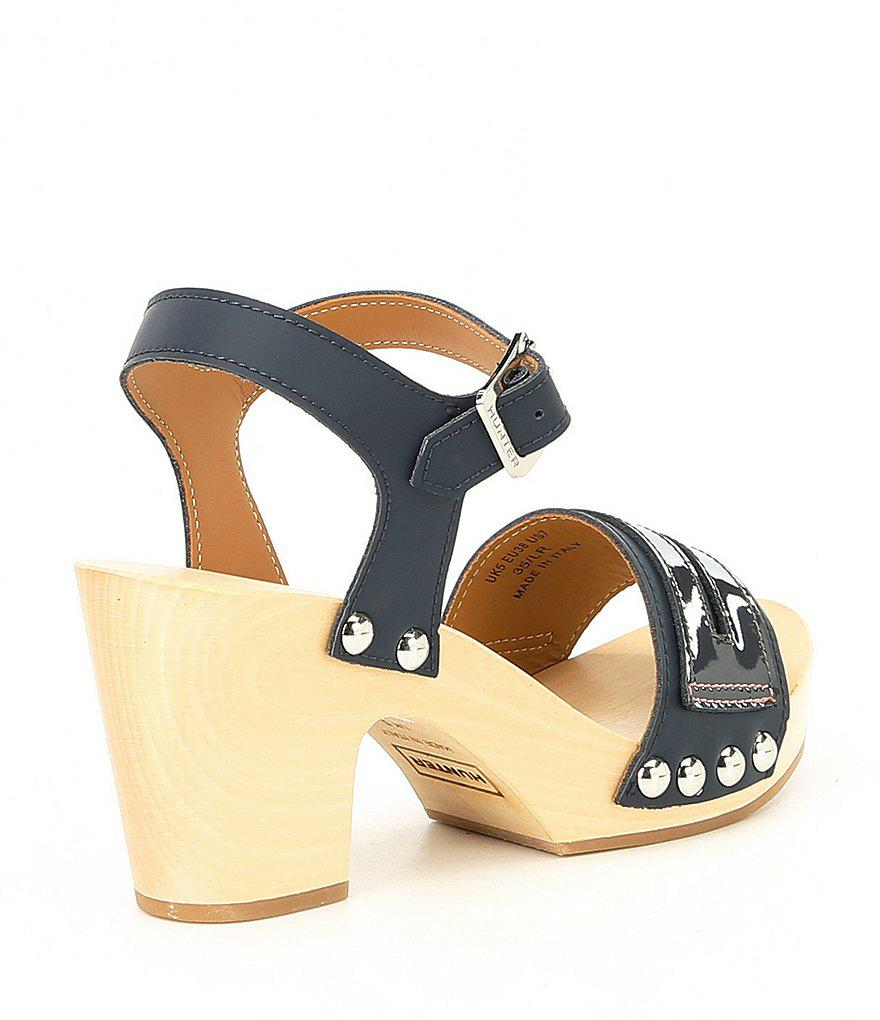 Hunter Penny Loafer Block Heel Clogs vkI1EnJEG