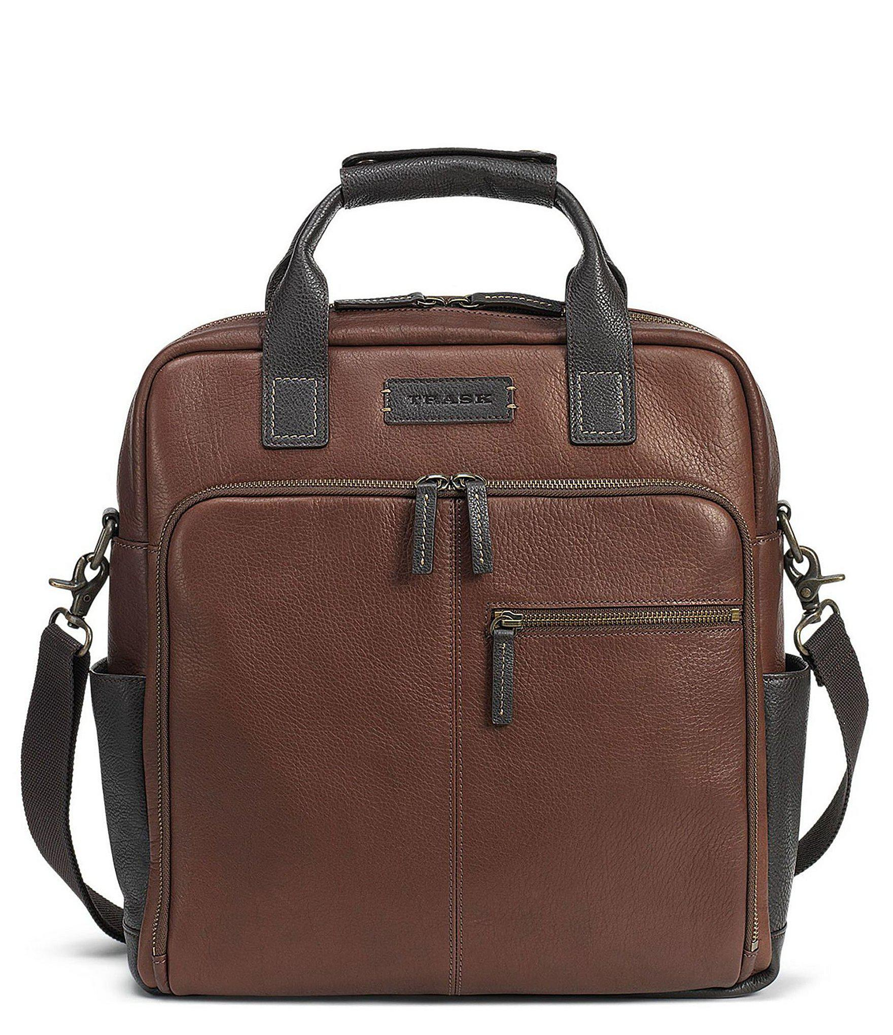 Lyst - Trask Men s Jackson Zip Top Field Tote in Brown for Men 2d00481975