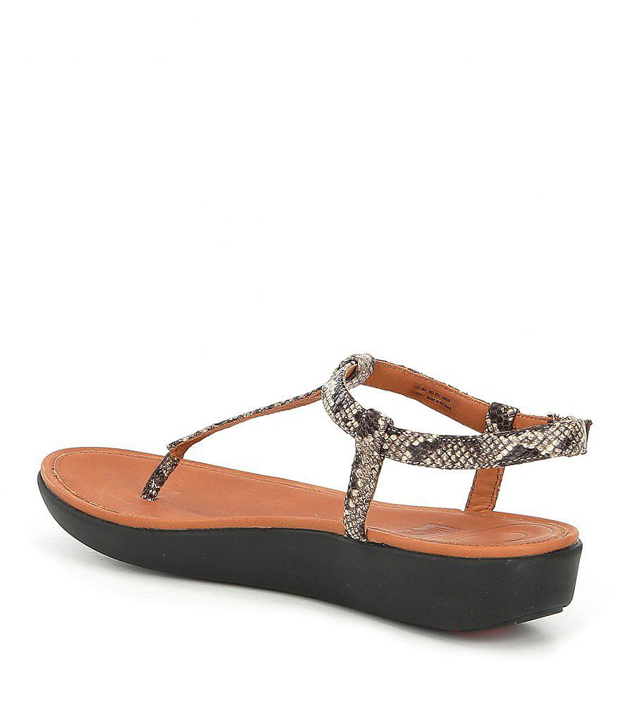 FitFlop Tia Embossed Snake Print Thong Sandals 3gQmq