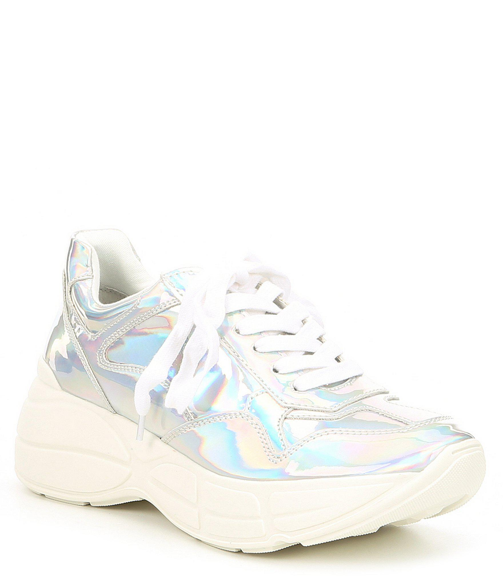 b223f70bd1e Lyst - Steve Madden Memory Iridescent Sneakers in Blue