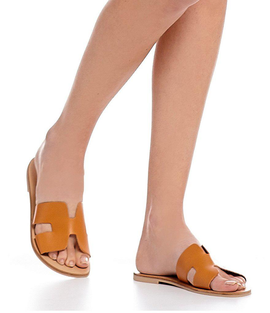 1901008385e9 Lyst - Steve Madden Steven By Greece Leather Sandals in Brown
