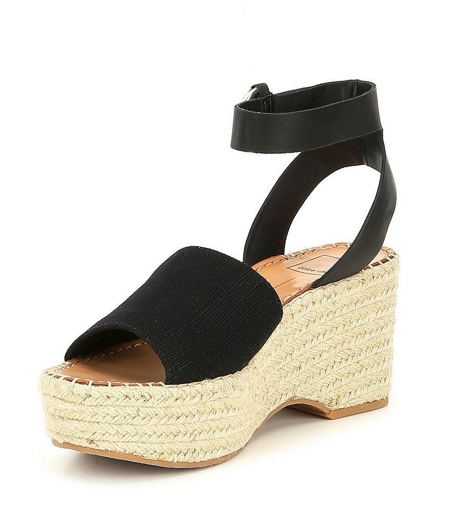 Lesly Linen Platform Espadrille Sandals ZSFkng0a