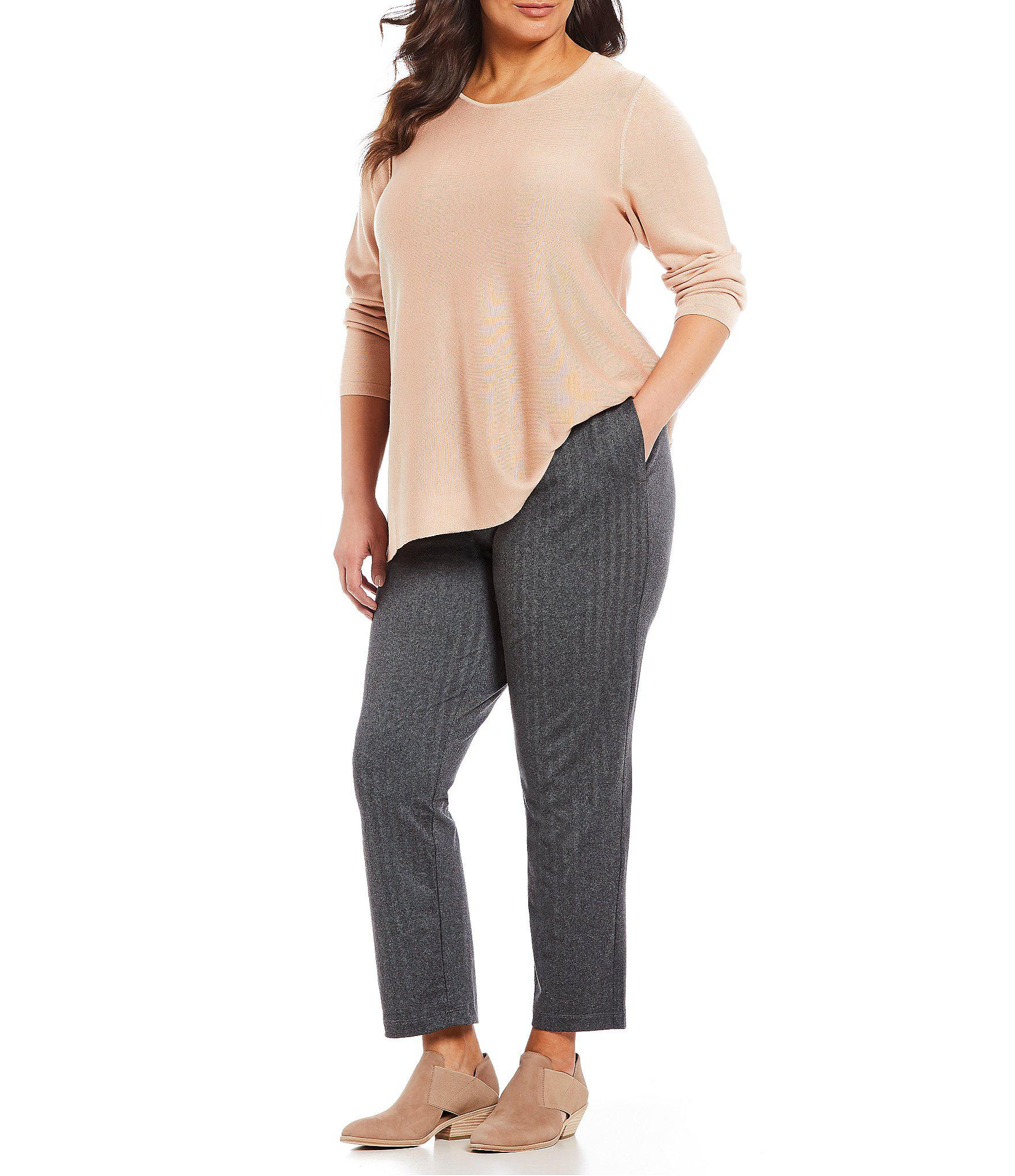 cf1c61cd847 Lyst - Eileen Fisher Plus Size Drawstring Slouchy Pants in Gray