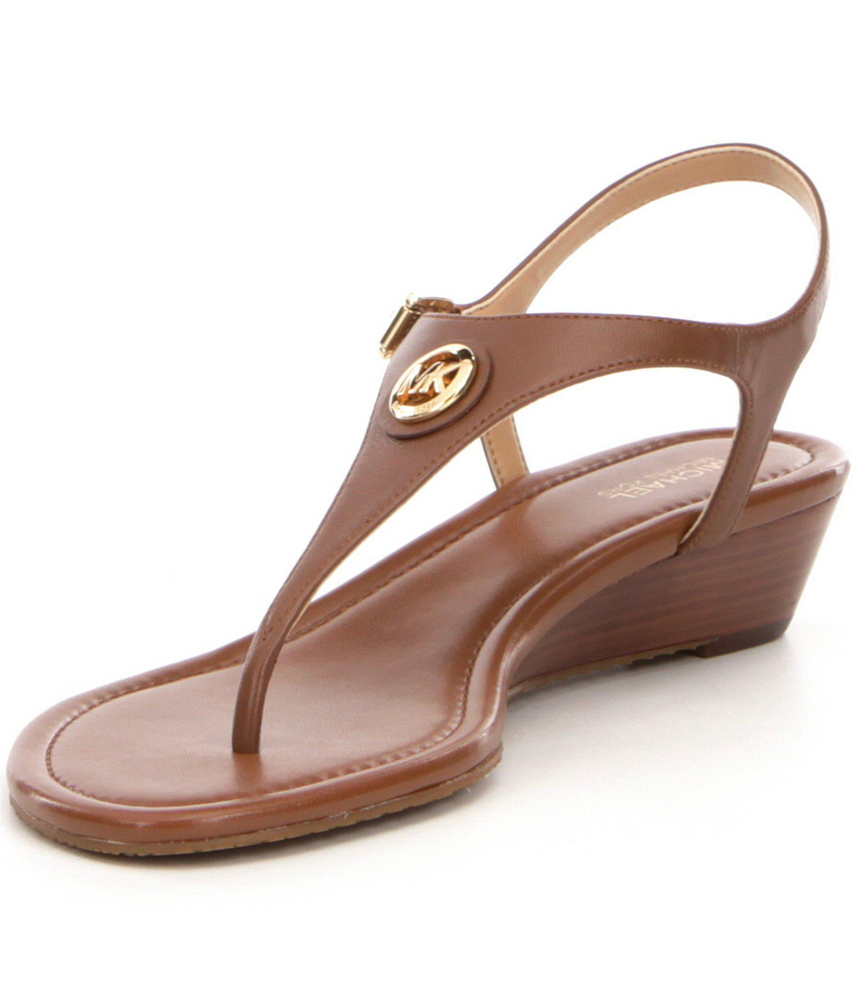 30db96032d4a Lyst - MICHAEL Michael Kors Ramona Wedge Sandals in Brown