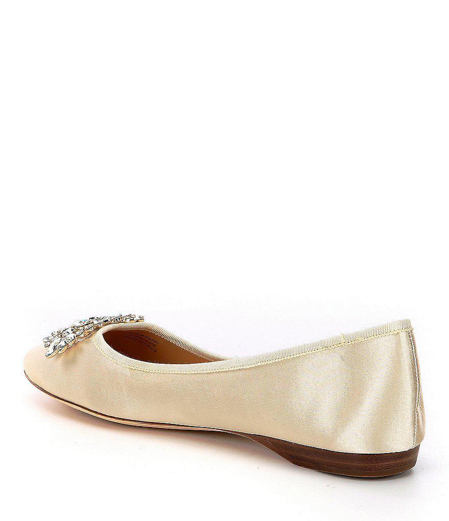 Pippa Jeweled Satin Dress Flats UVHjA