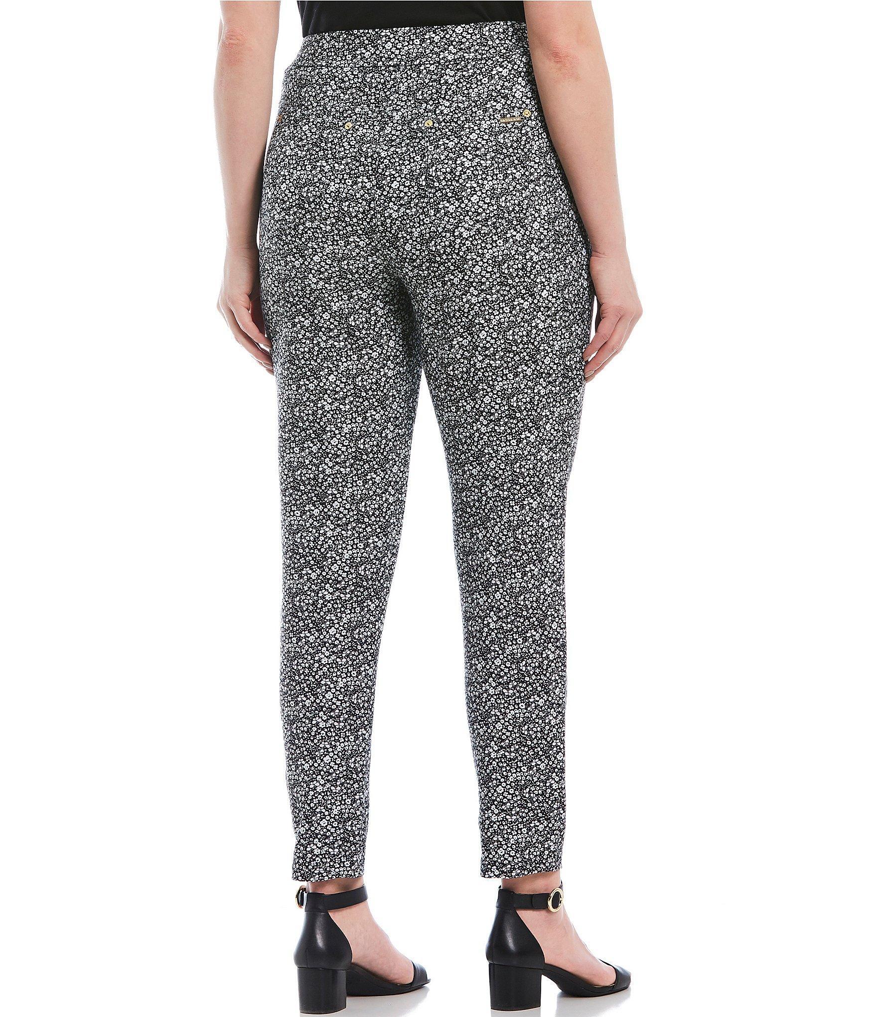 2531b5a55d1a8 MICHAEL Michael Kors - Black Plus Size Springtime Silhouette Print Stretch  Knit Twill Leggings - Lyst. View fullscreen