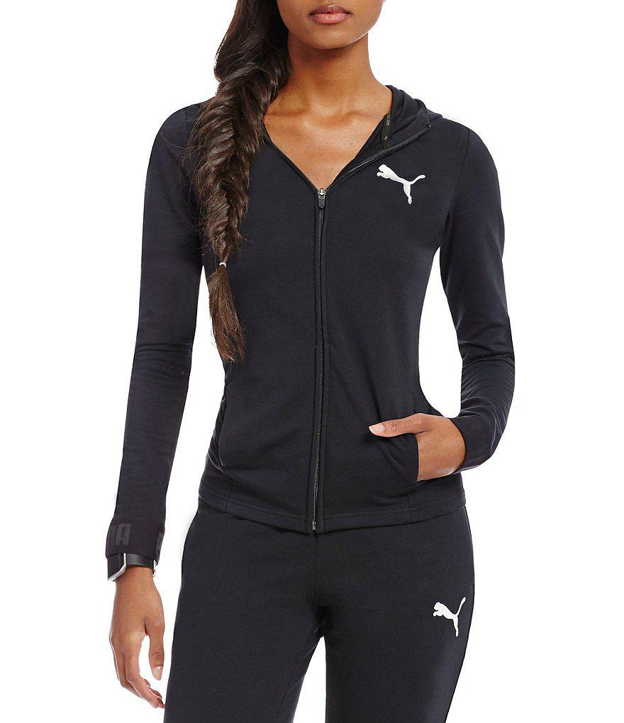 794ae807f968 Lyst - PUMA Urban Sports Front Zip Hoodie in Gray