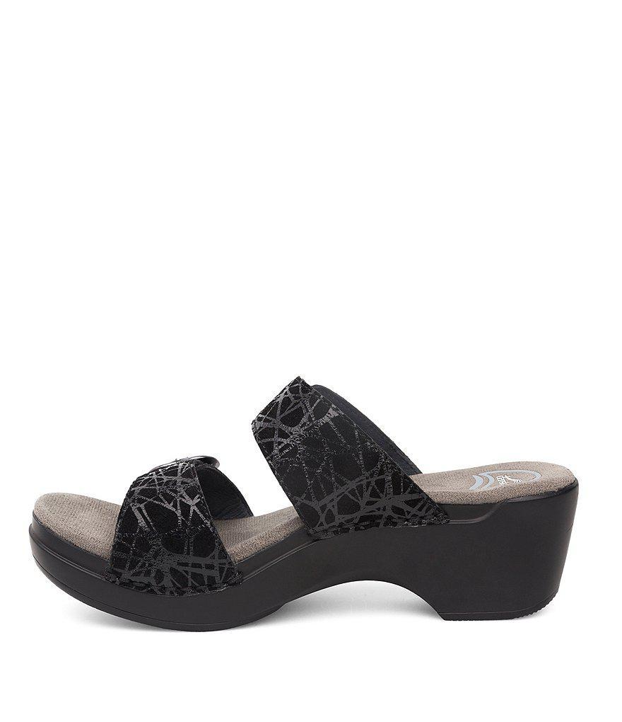 Sophie Black Drizzle Suede Slide Sandals 6vod0lpx