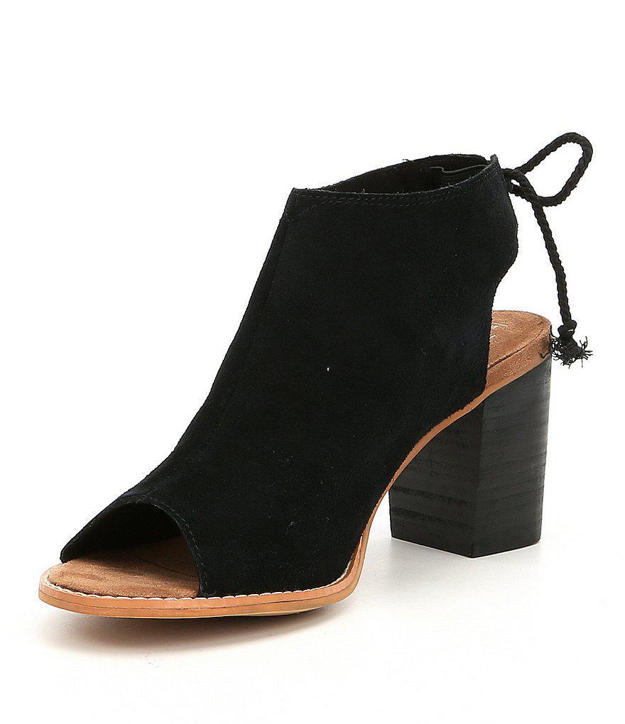 Elba Suede Block Heel Sandals 8m1bnl6