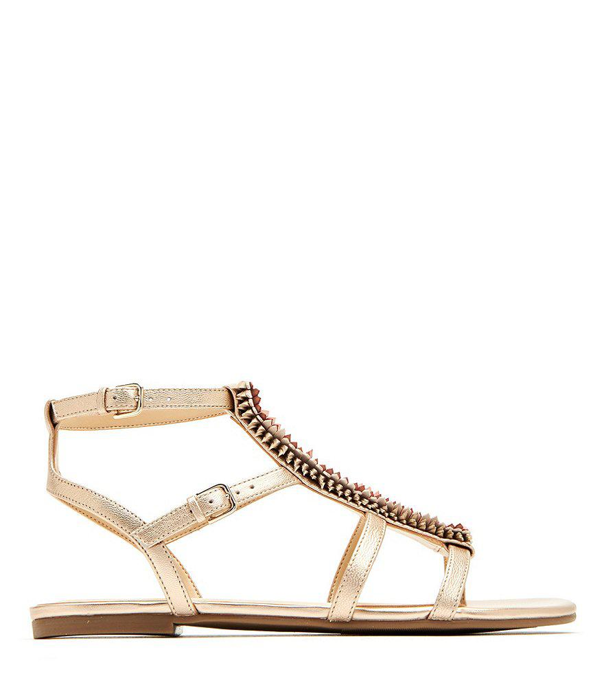 The Alanna Feather Leather Detail Sandals Vi6yU