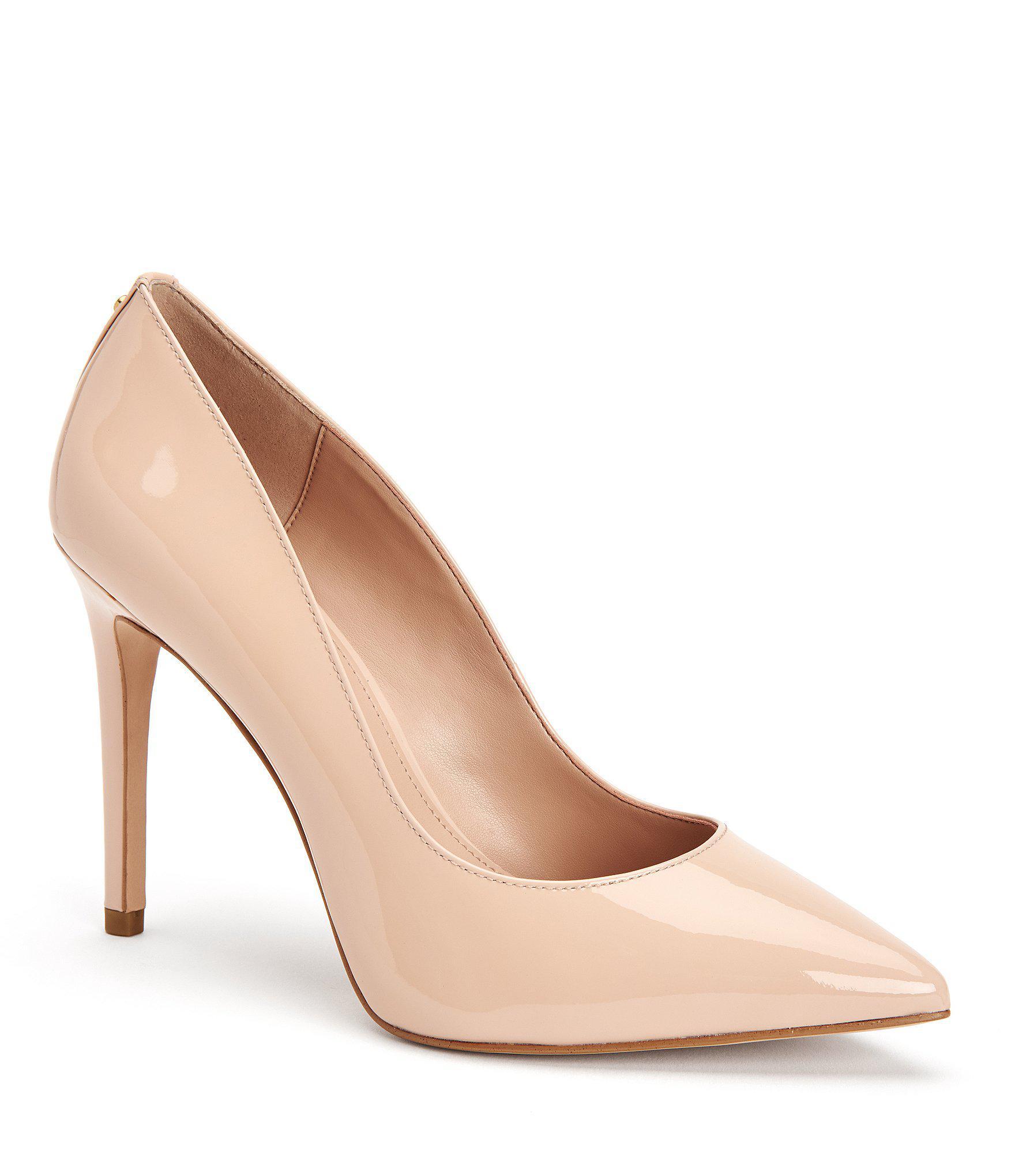 13cf2bdbccc392 Lyst bcbgeneration heidi classic pointed toe pumps in natural jpg 1760x2040  Bcbg natural heels