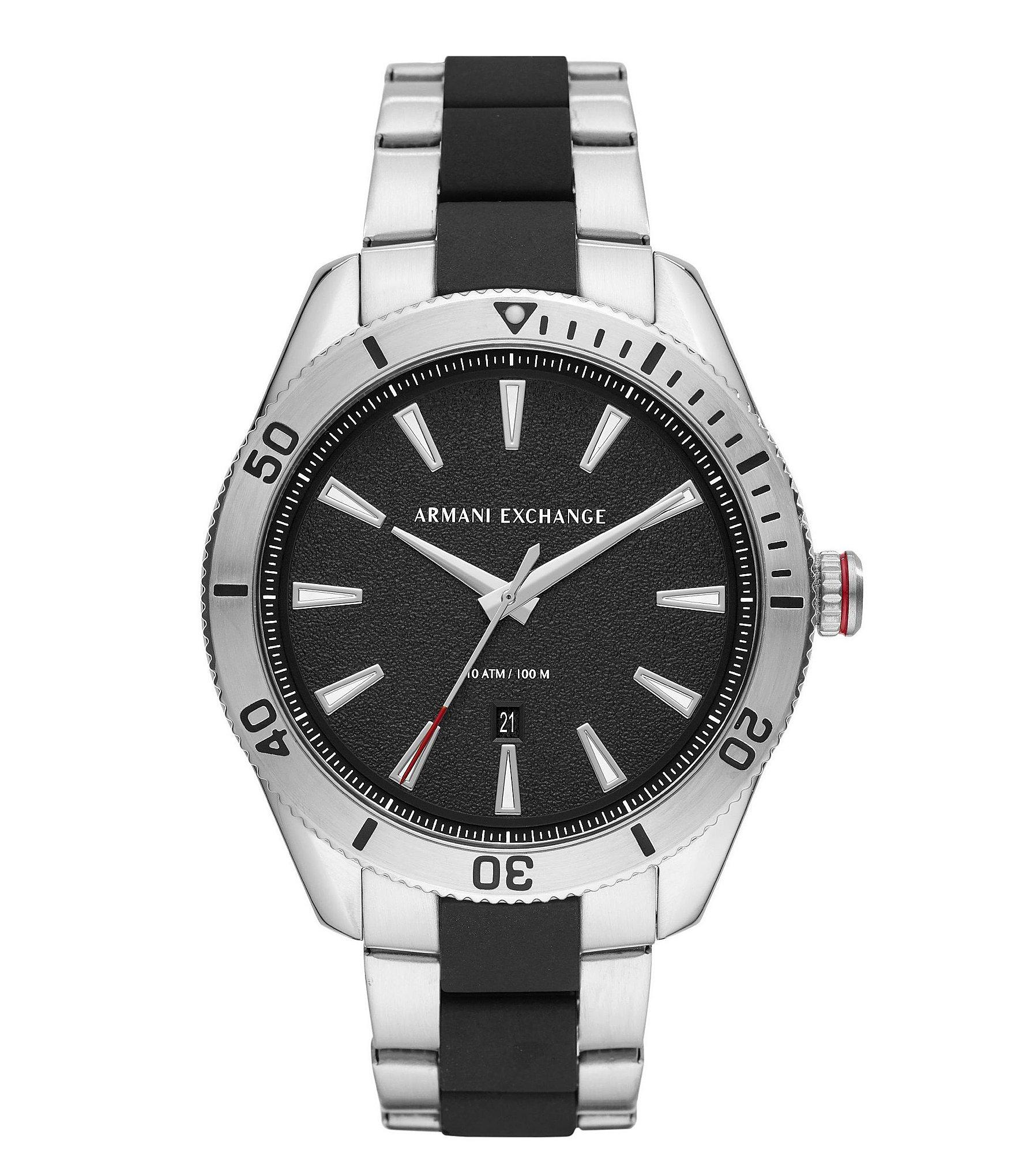 9fc8722d8cf1 Lyst - Armani Exchange Aix Three-hand Two-tone Stainless Steel Watch ...