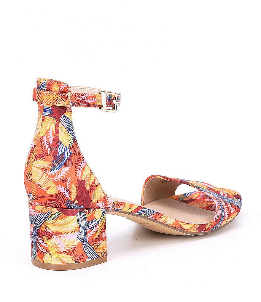 Marigold Tropical Suede Sandals TfuQv