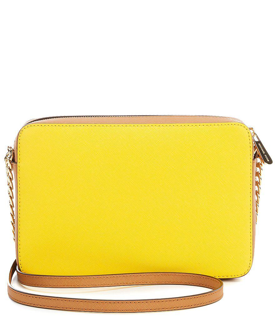 c4891eaaa62b MICHAEL Michael Kors Jet Set Colorblocked Saffiano Large Cross-body ...