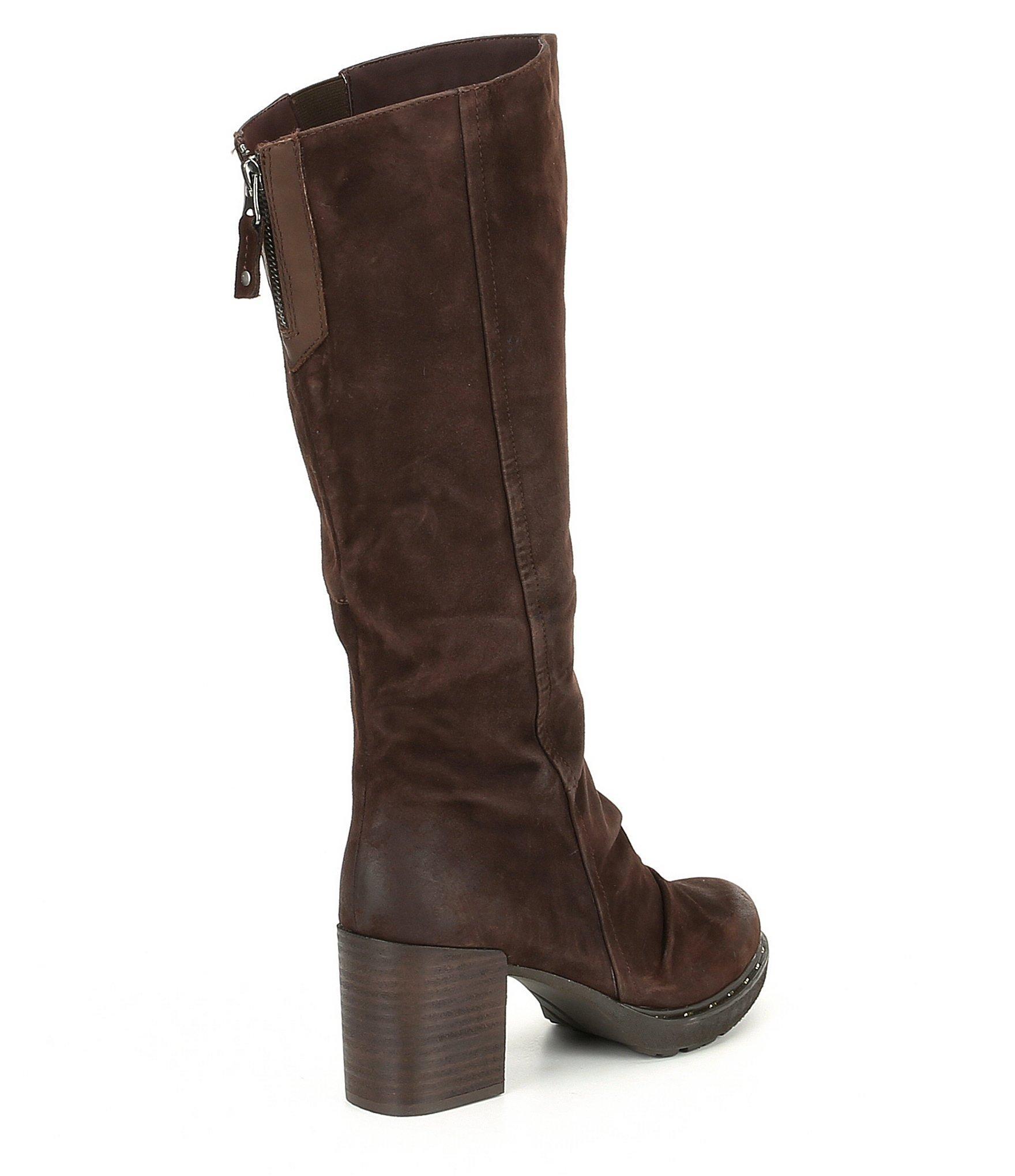 ea6058f01269 Lyst - Otbt Gambol Leather Block Heel Boots in Brown