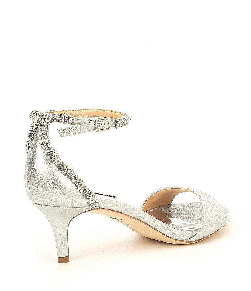 Yareli Rhinestone Jeweled Metallic Suede Dress Sandals vtA09Dfnv