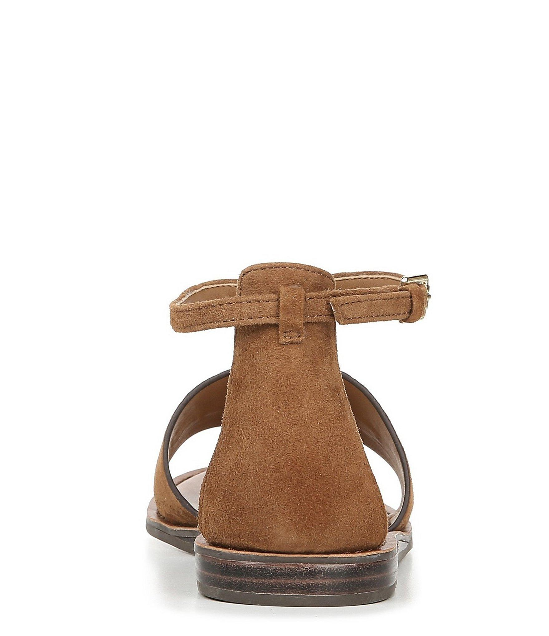 34241354c Franco Sarto - Brown Sarto By Lockheart Suede O-ring Sandals - Lyst. View  fullscreen
