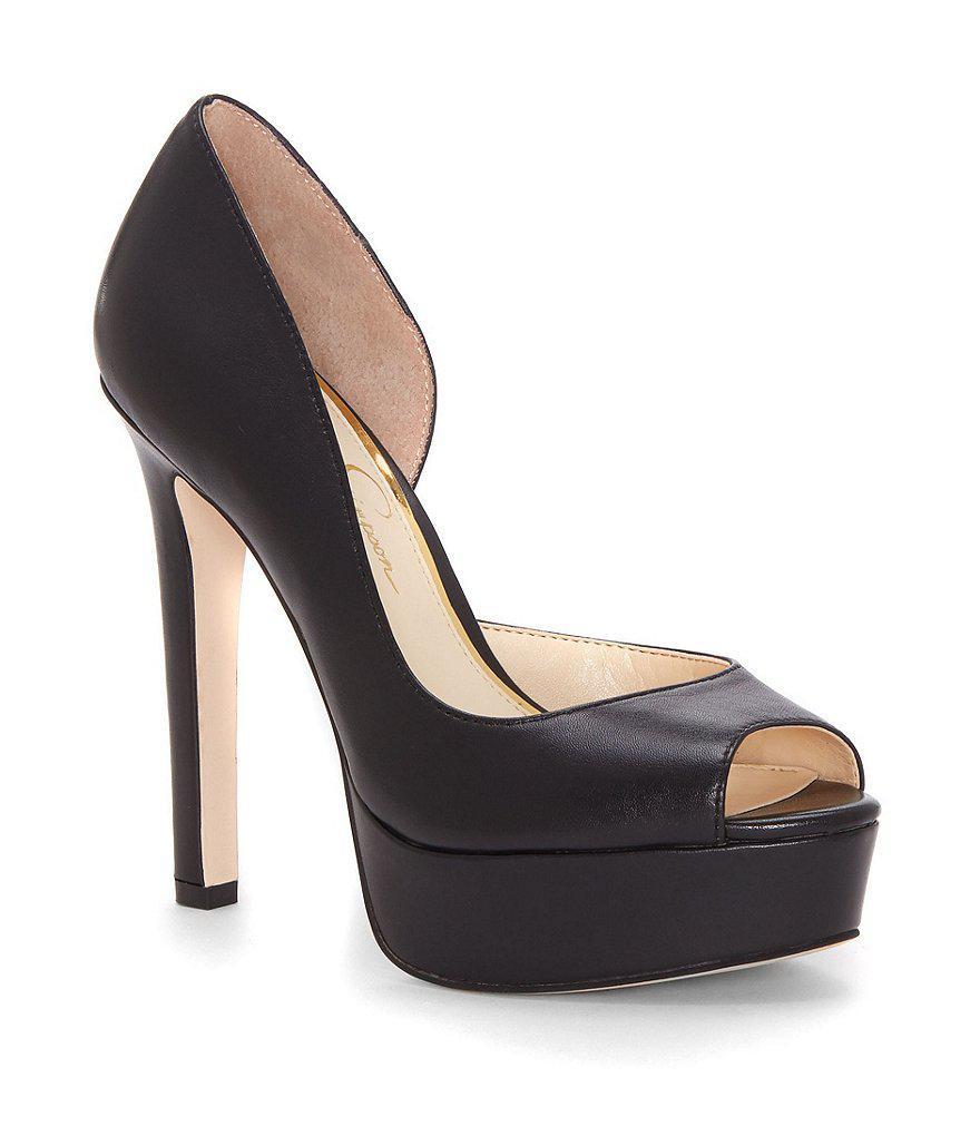 Jessica Simpson Piercey Polka-Dot D'orsay Pumps Women's Shoes gVAPIrq