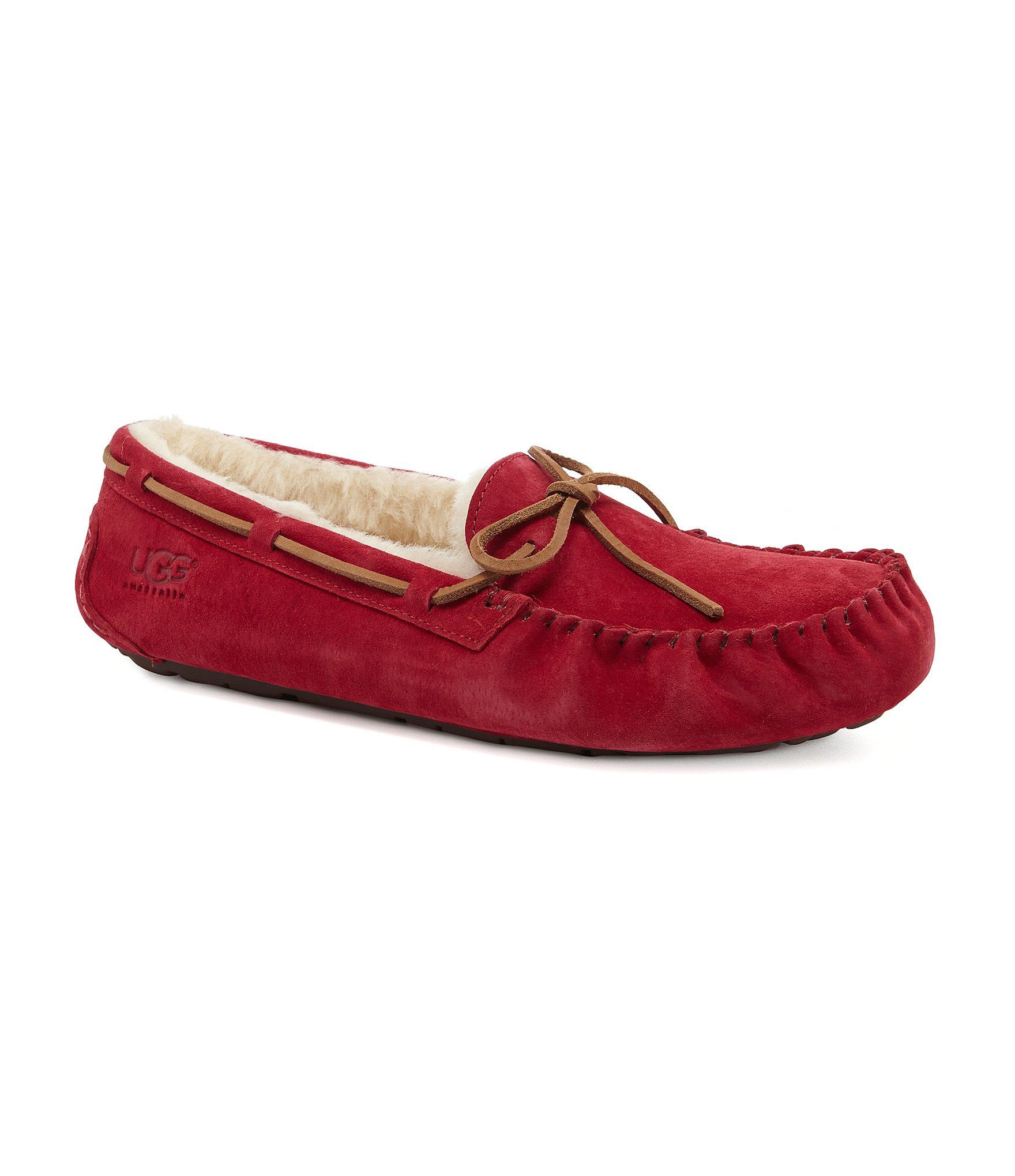 red ugg moccasins on sale