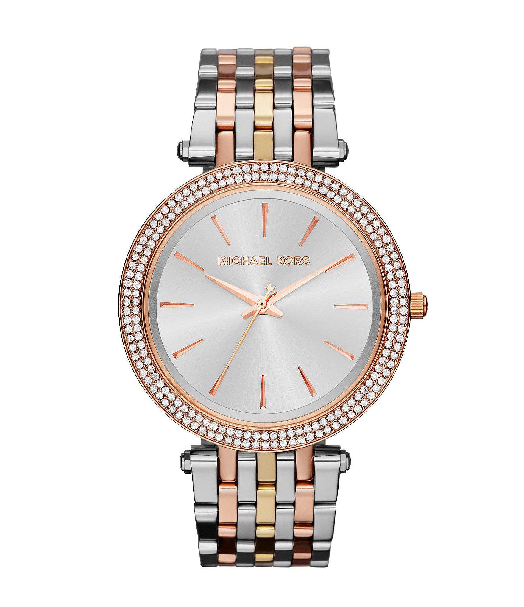 4031e07291be Lyst - Michael Kors Darci Three-tone Watch in Metallic