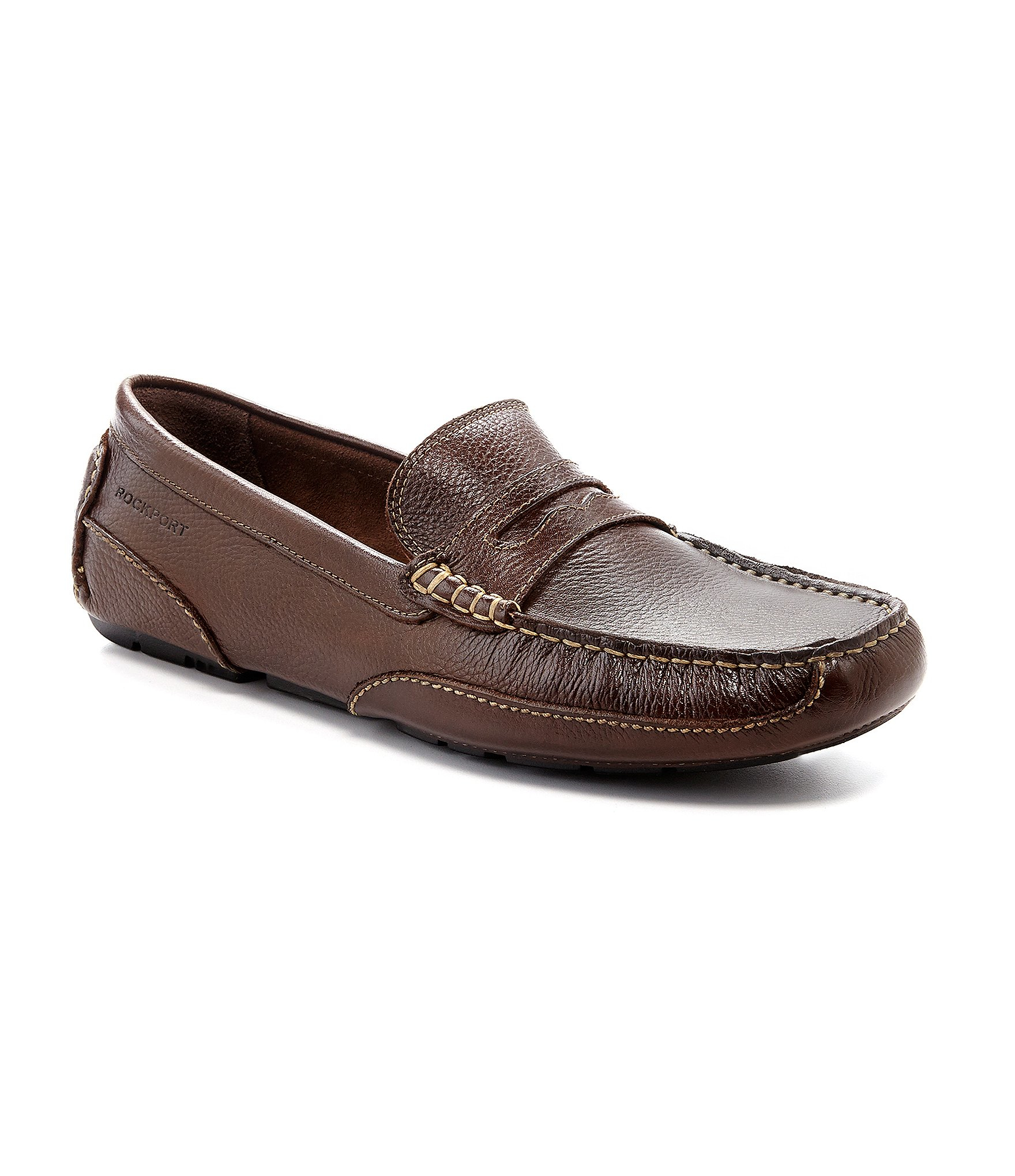 Leather Rockport Loafers - results from brands Rockport, products like Rockport Men's Classic Loafer Lite Venetian, Rockport Total Motion Loafer Penny (Tan Leather) Men's Slip on Shoes, Rockport Men's 3-Eye Steel Toe Boat Shoe - Brown, Size 11 1/2 Wide, Model RK, Men's Shoes.