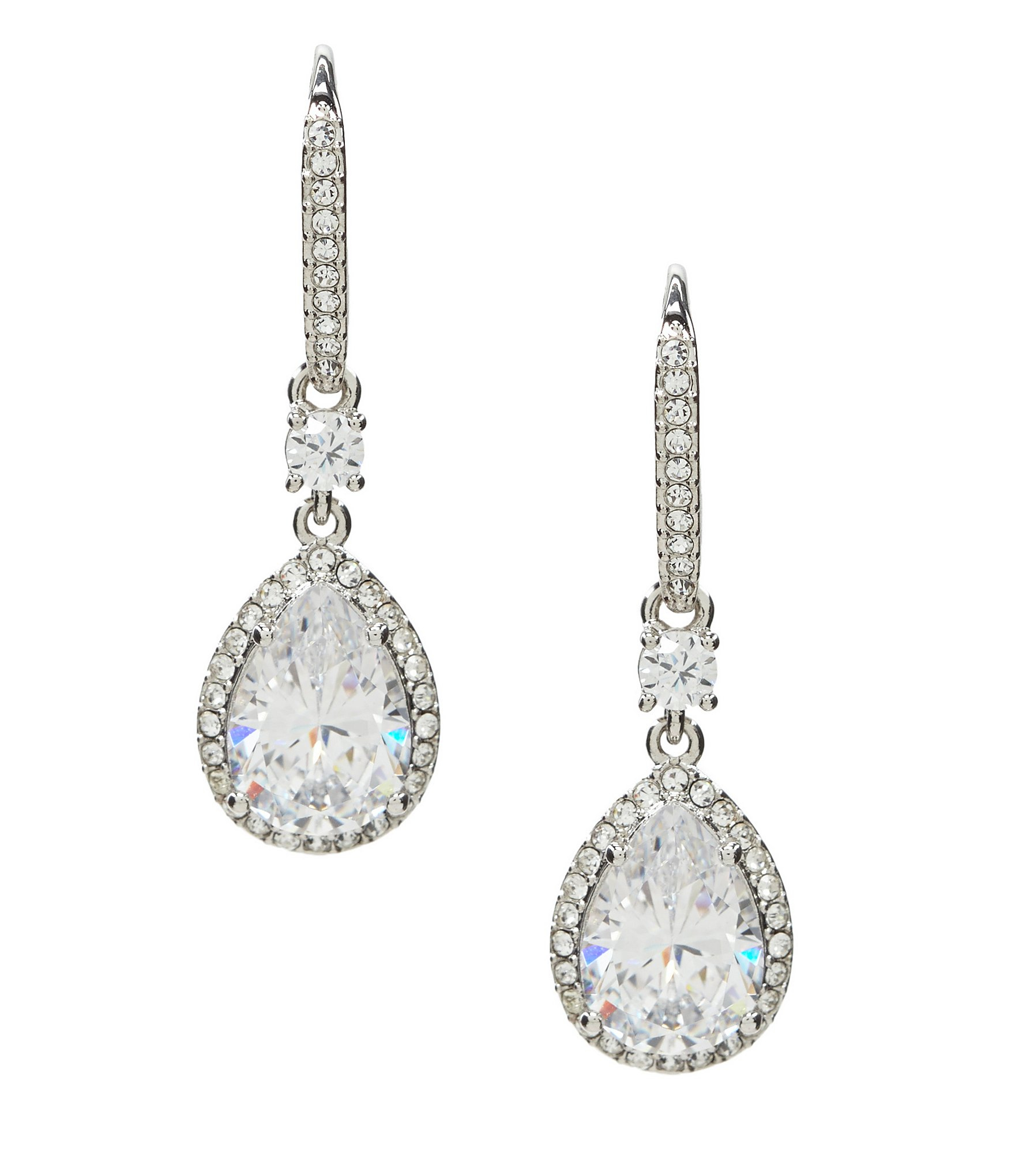 nadri cubic zirconia mini drop earrings in metallic lyst