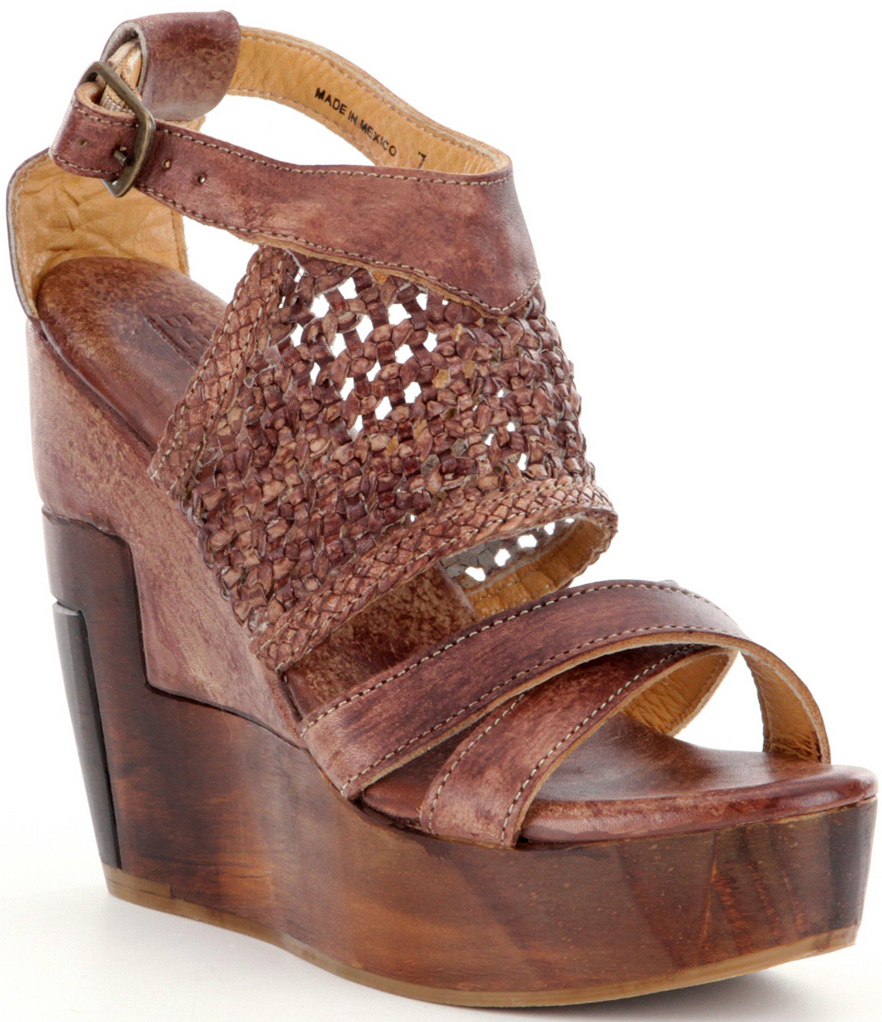 b73492b3e996 Lyst - Bed Stu Petra Wedge Sandals in Brown