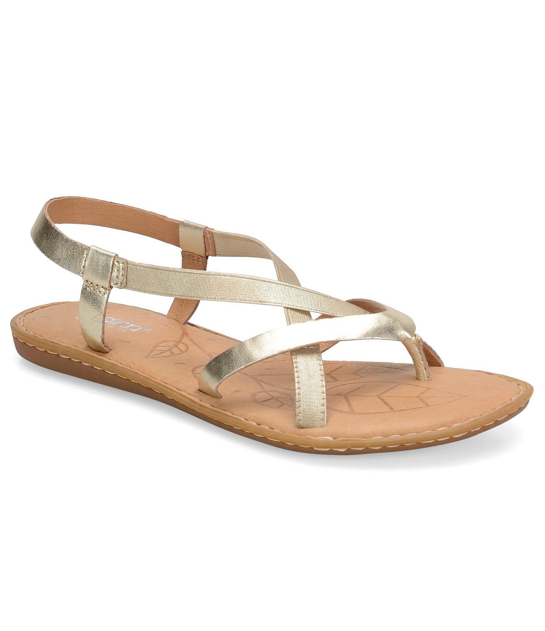 9bf0a33ca70e Lyst - Born Taj Metallic Crisscross Strap Sandals in Metallic