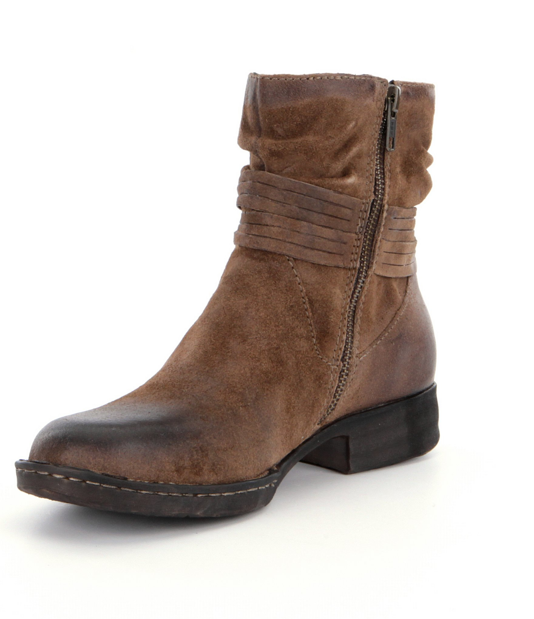 Lyst Born Cross Fringed Western Booties In Brown