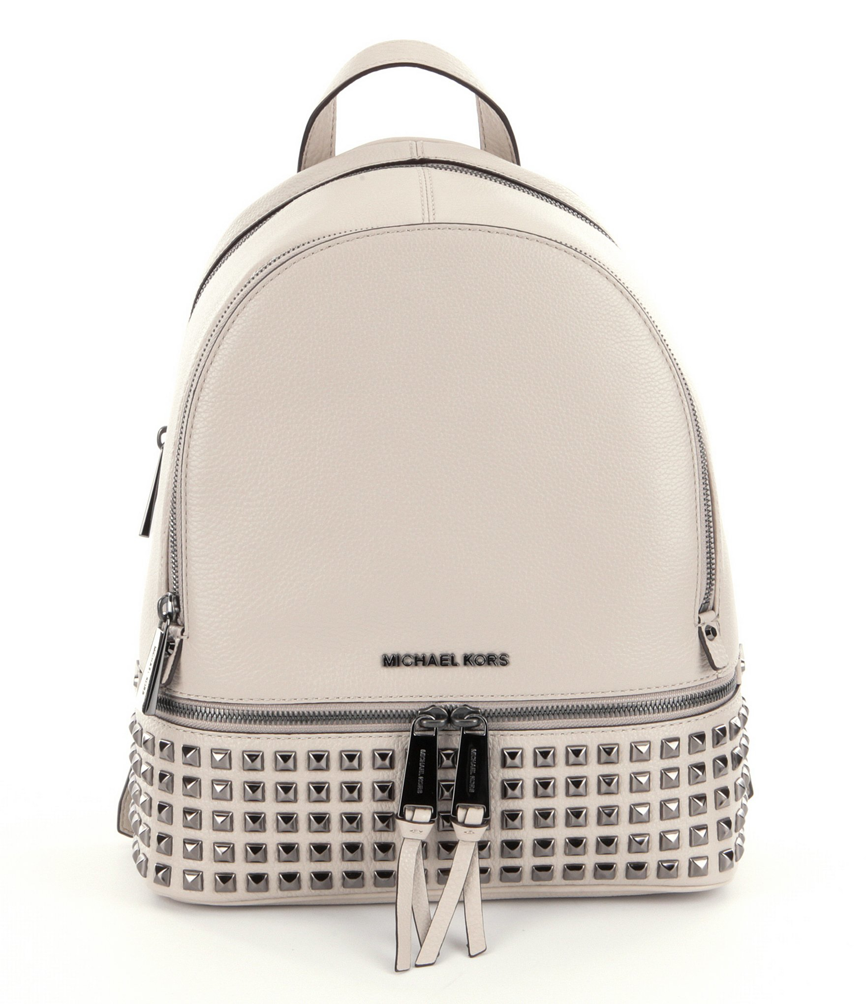 5613208e3b16 Lyst - MICHAEL Michael Kors Rhea Studded Leather Medium Backpack in ...