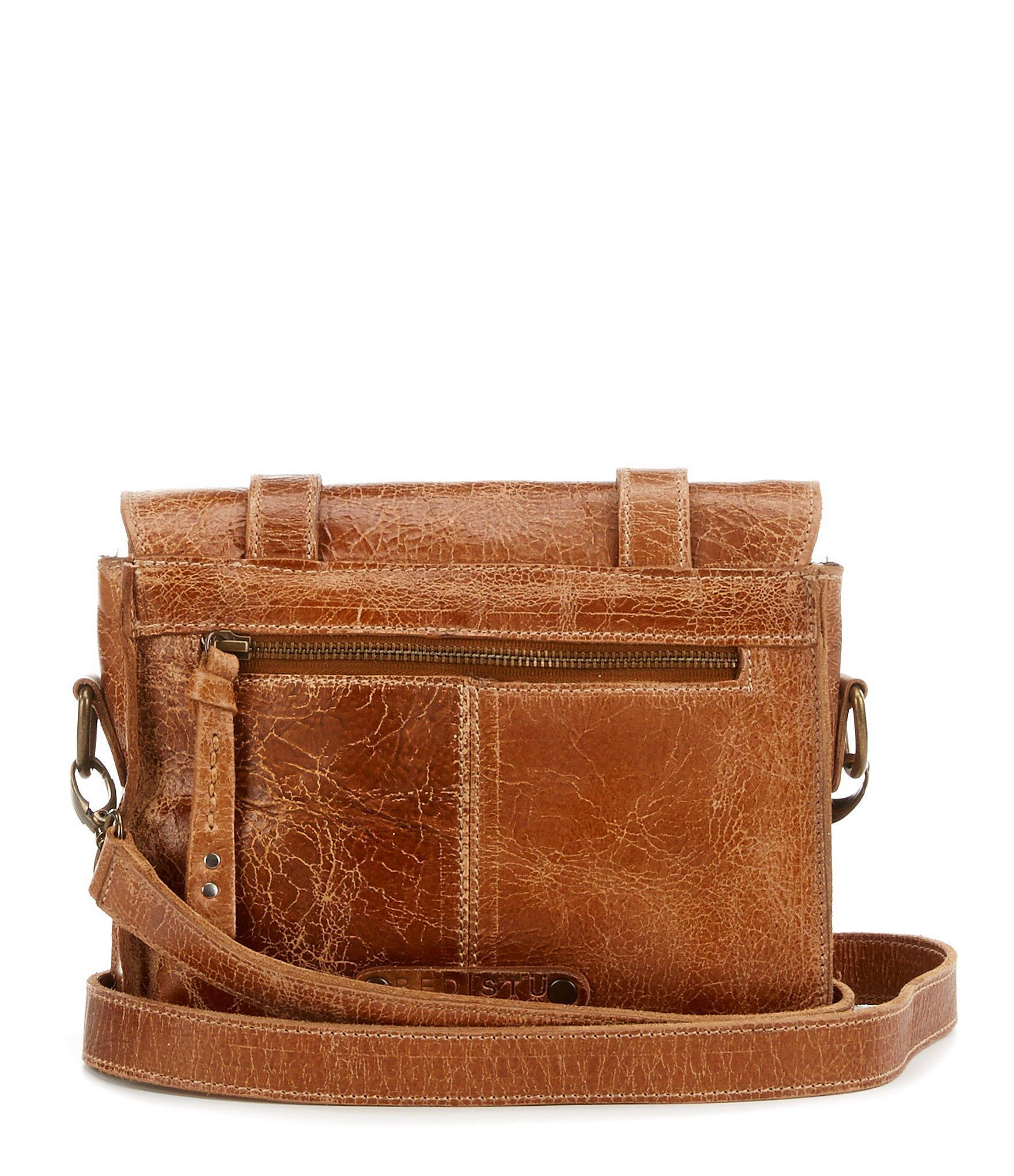 lyst bed stu tiffany double buckle messenger bag in brown for men. Black Bedroom Furniture Sets. Home Design Ideas