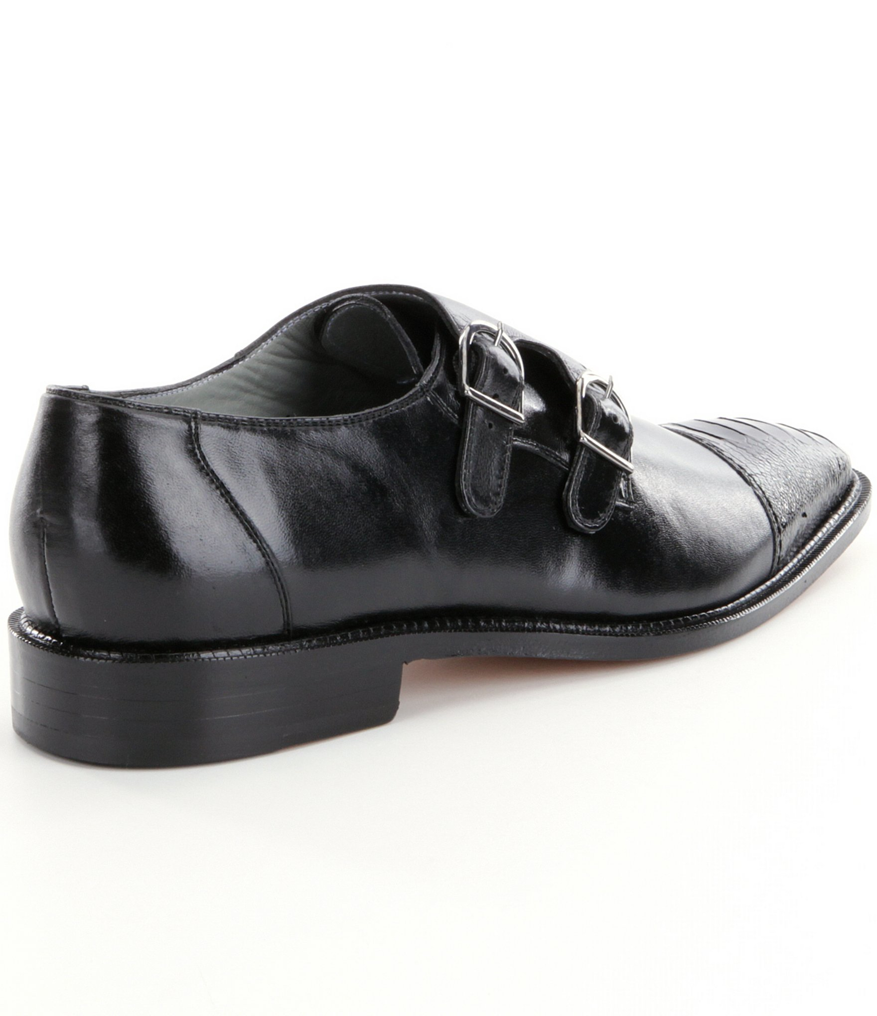 Gucci Double Monk Strap Leather Shoes