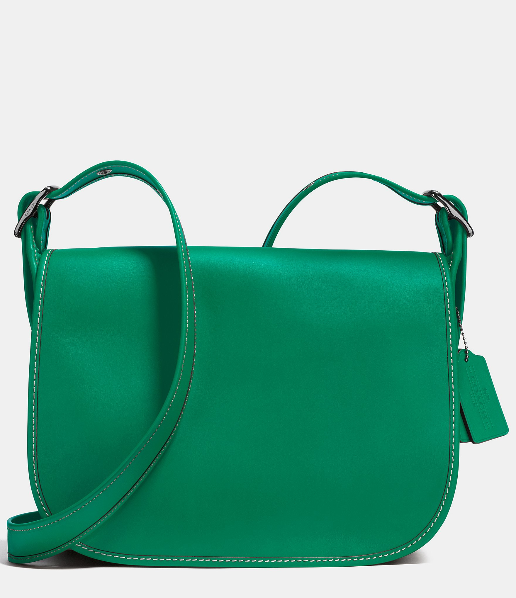 397ff3958b8 ... coupon code for lyst coach saddle bag in glovetanned leather in green  daf0e 38b49 ...