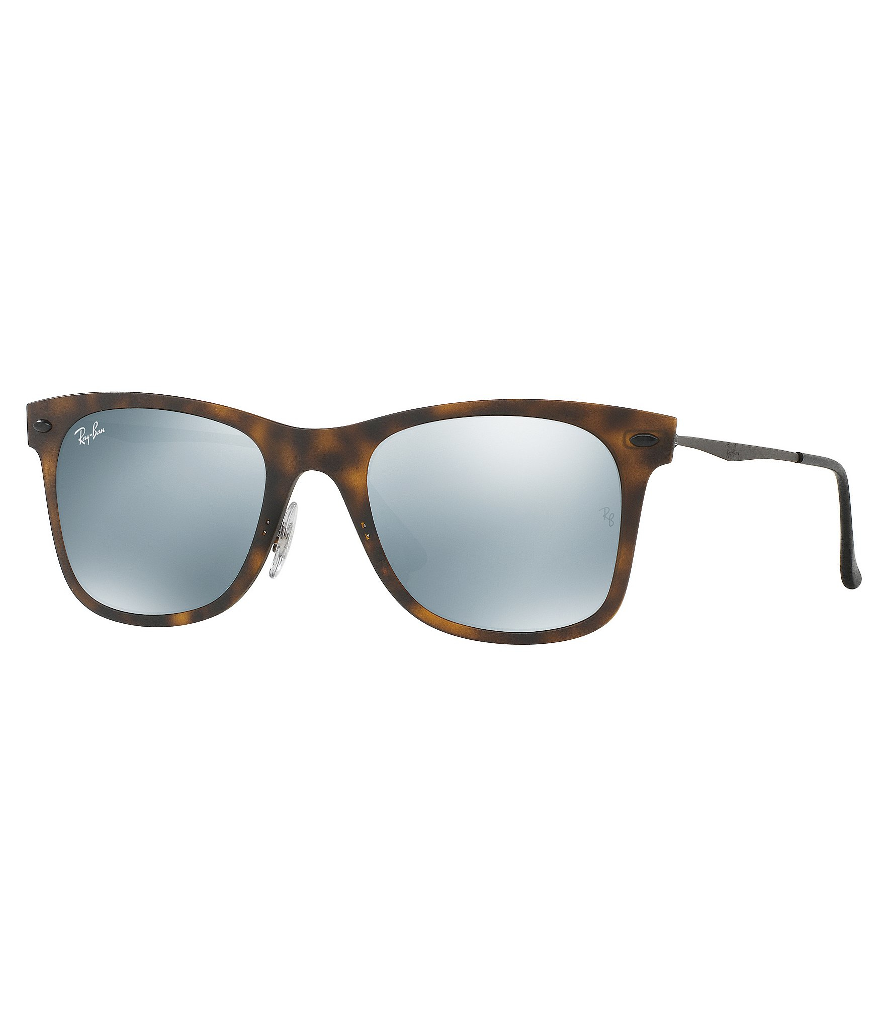 b7255c39a33 Lyst - Ray-Ban Light Ray Square Flash mirror Sunglasses in Gray
